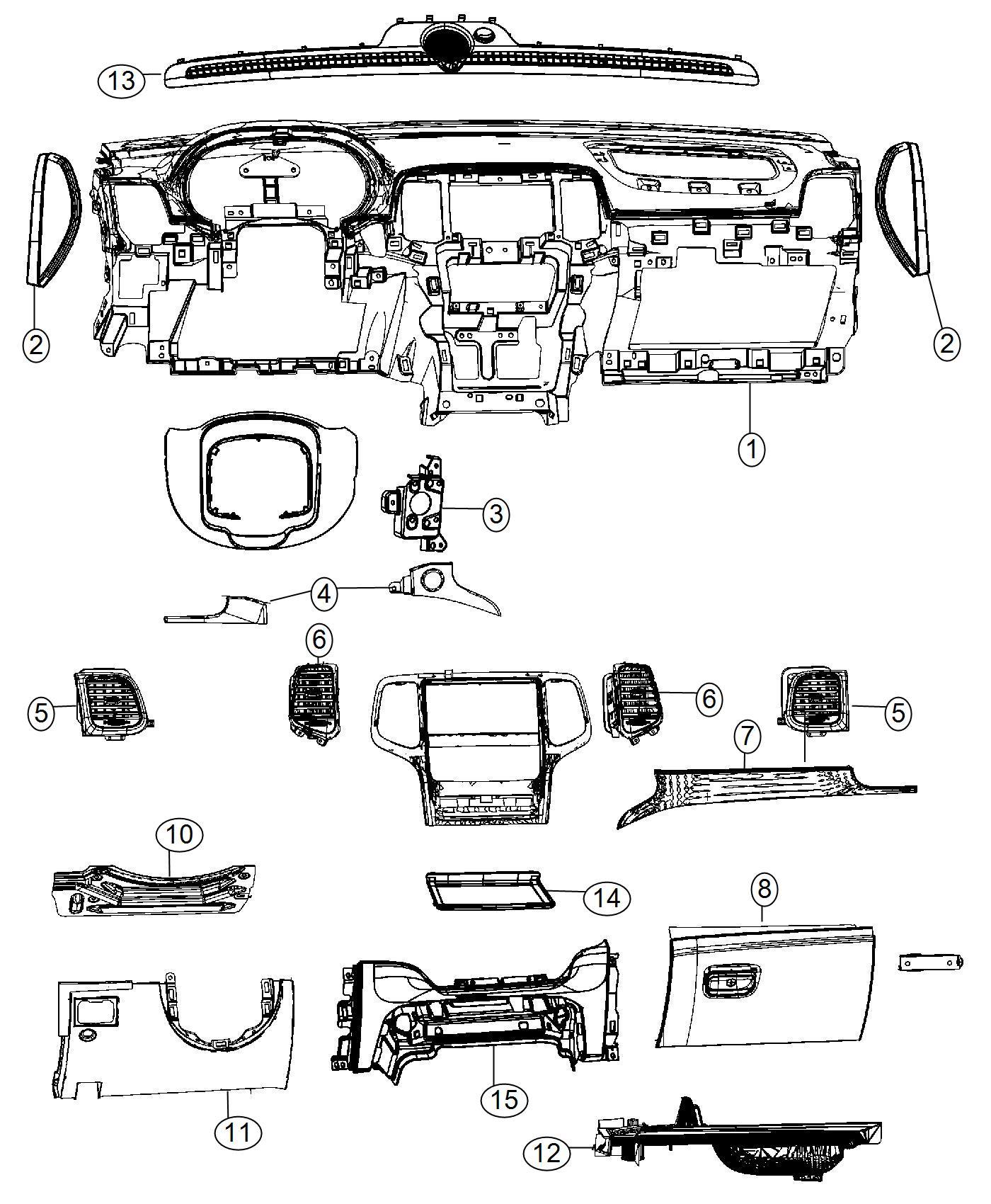 Dodge Durango Bezel Instrument Panel Lower Trim