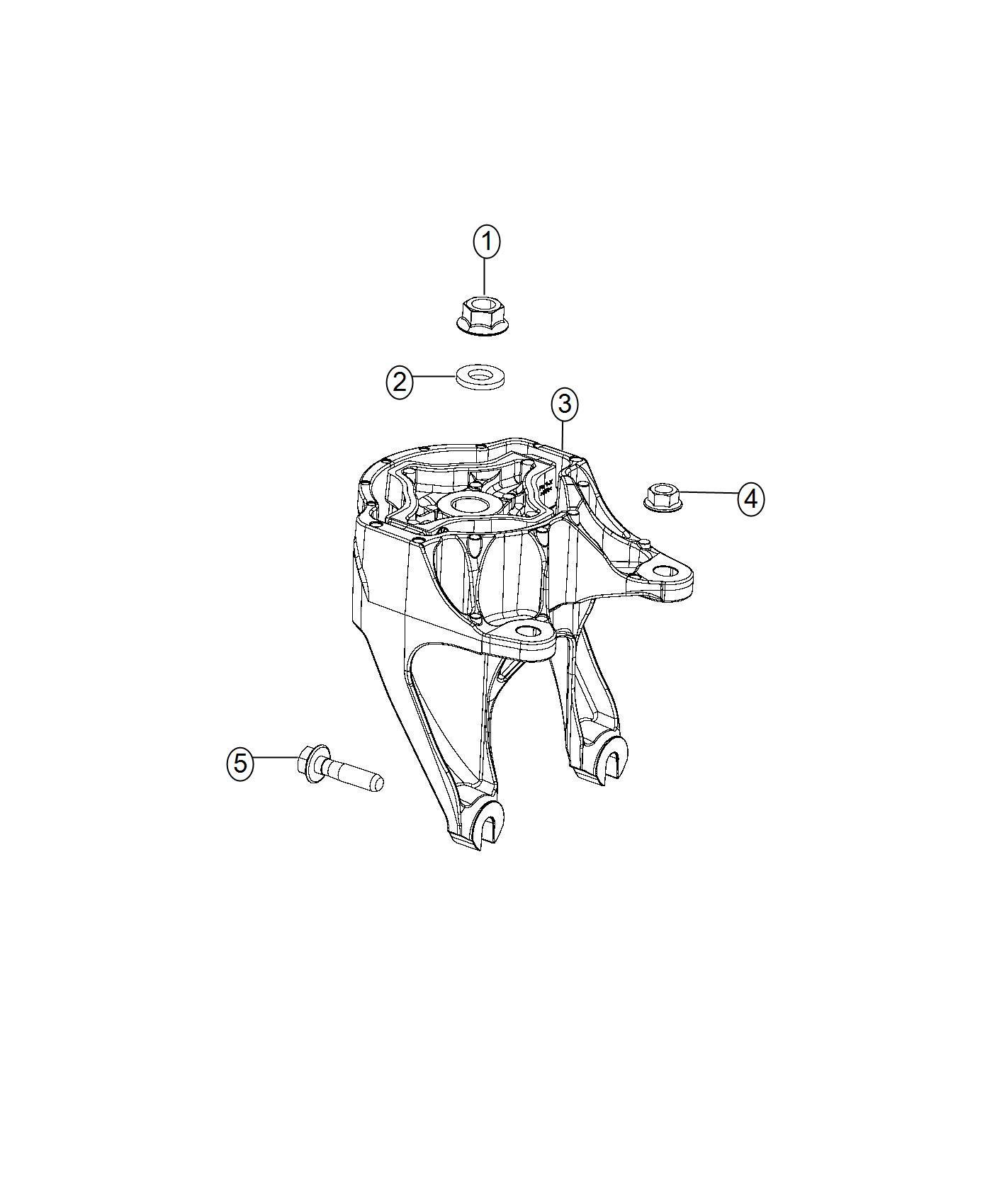 Ram Bracket Isolator Isolator Kit Engine Mount Power Module Transmission