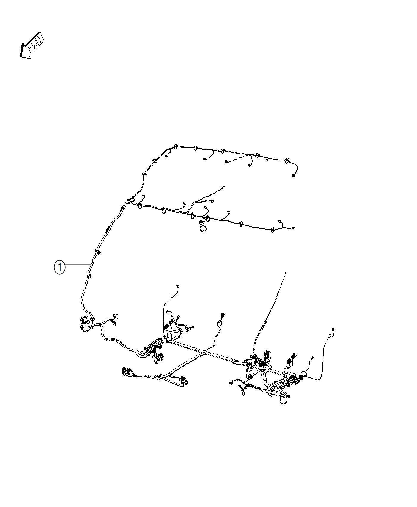 Ram Promaster Wiring Body Interior Passenger Double