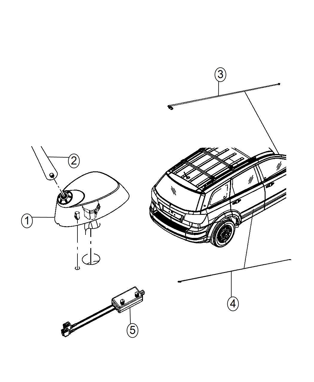 Dodge Journey Module Radio Antenna Dvd Panel Instrument