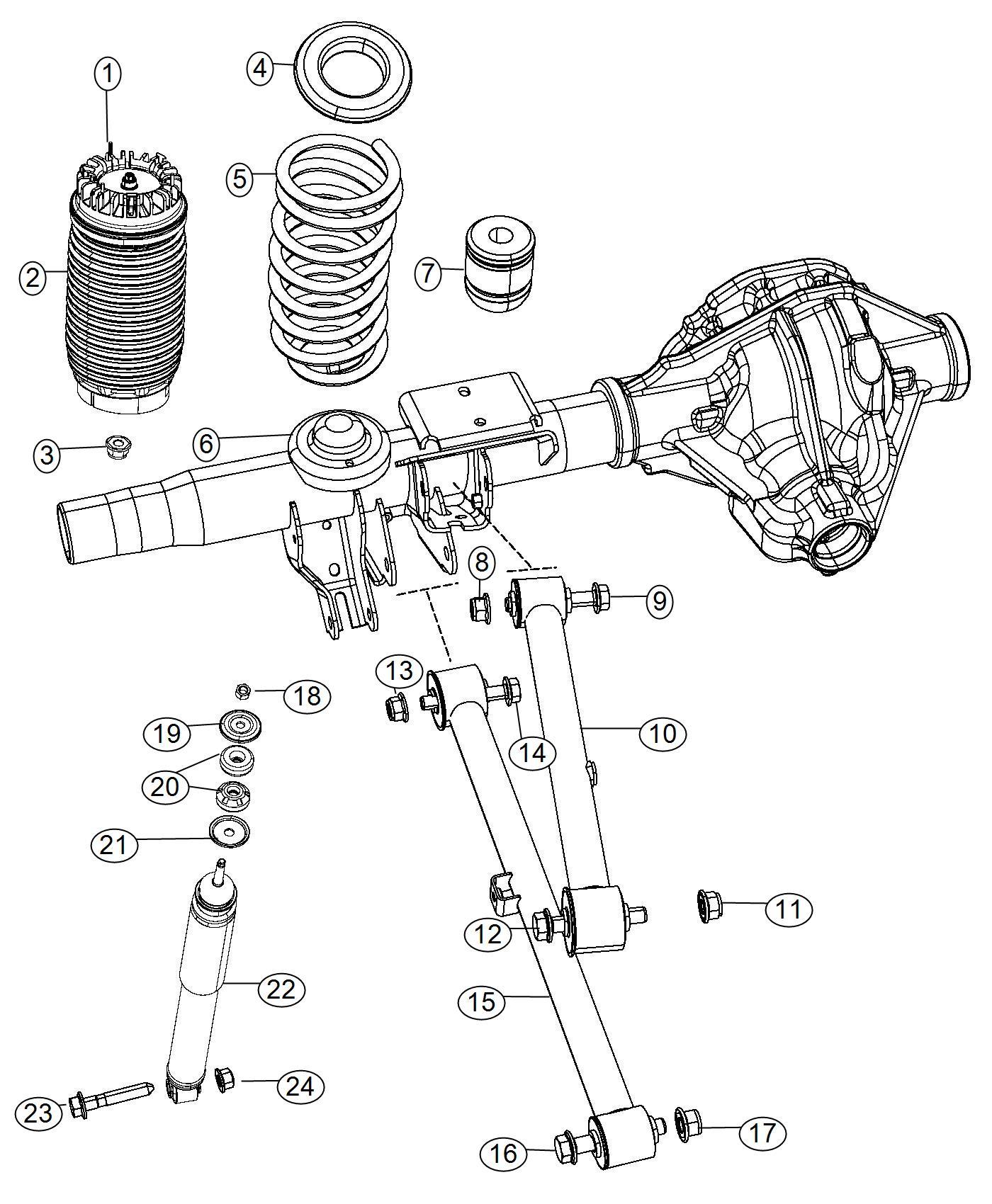 Ram Arm Upper Control Rear Suspension