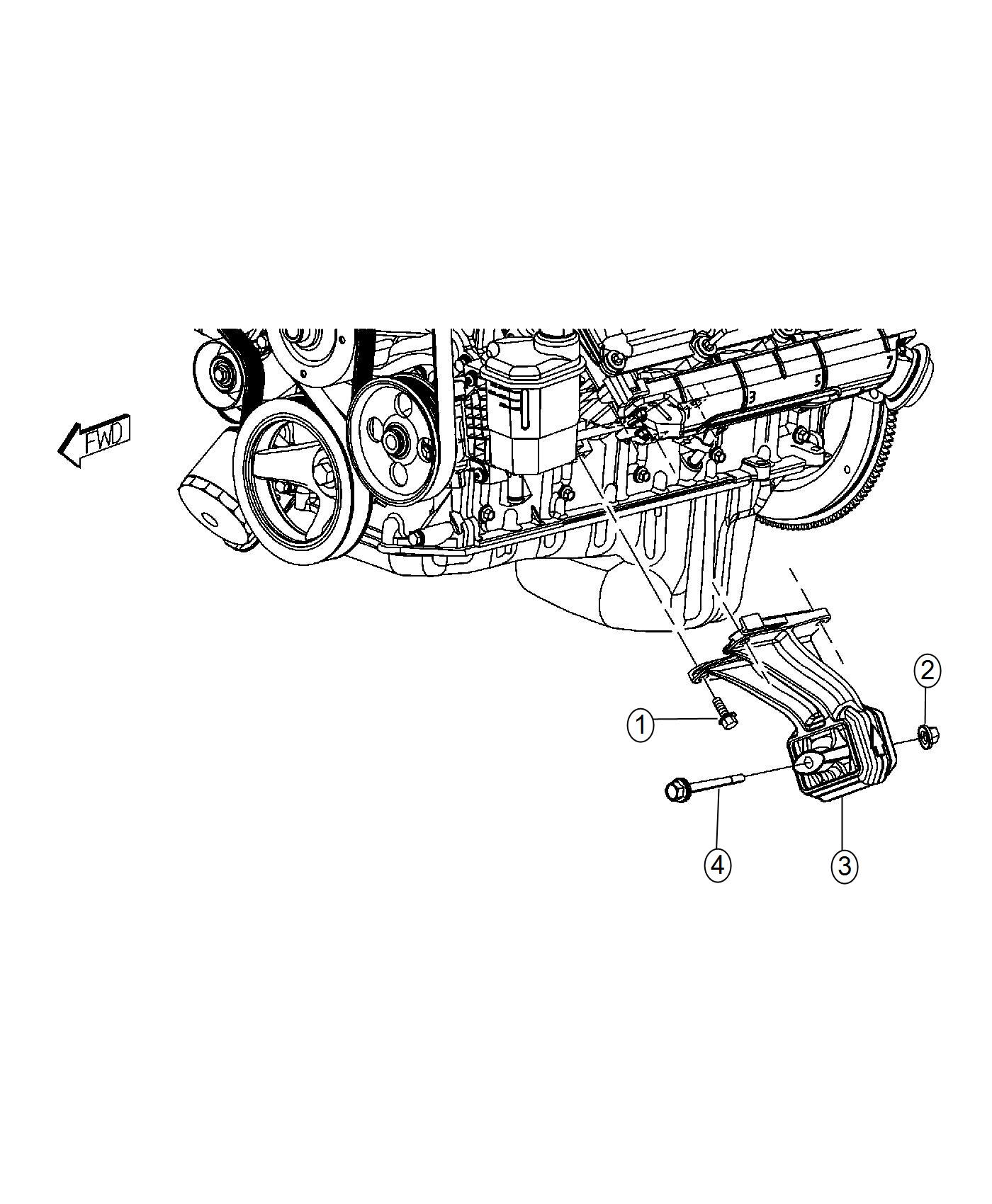 Ram Insulator Engine Mount Left Side Mounting Rwd Cng