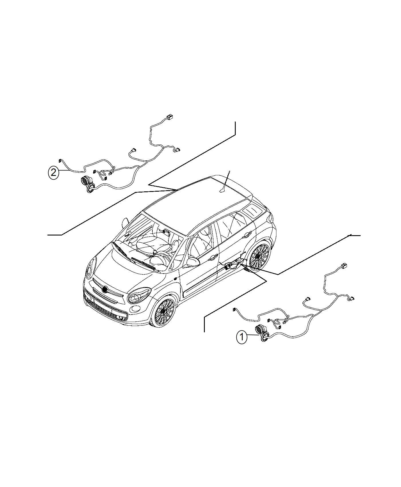 Fiat 500l Wiring Rear Door Canada Left Mexico