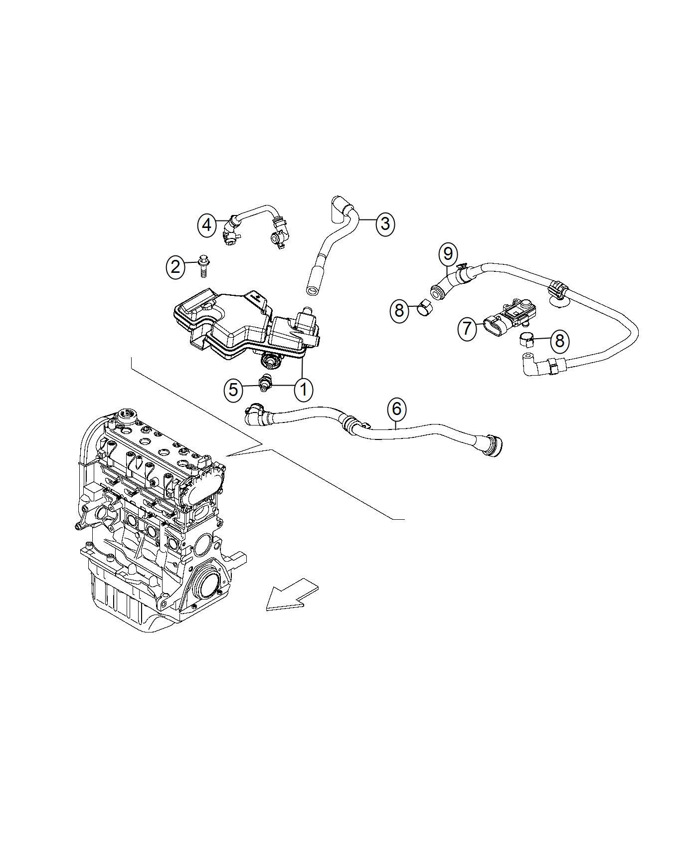 Fiat 500x Valve Pcv Sensor Pressure Crankcase