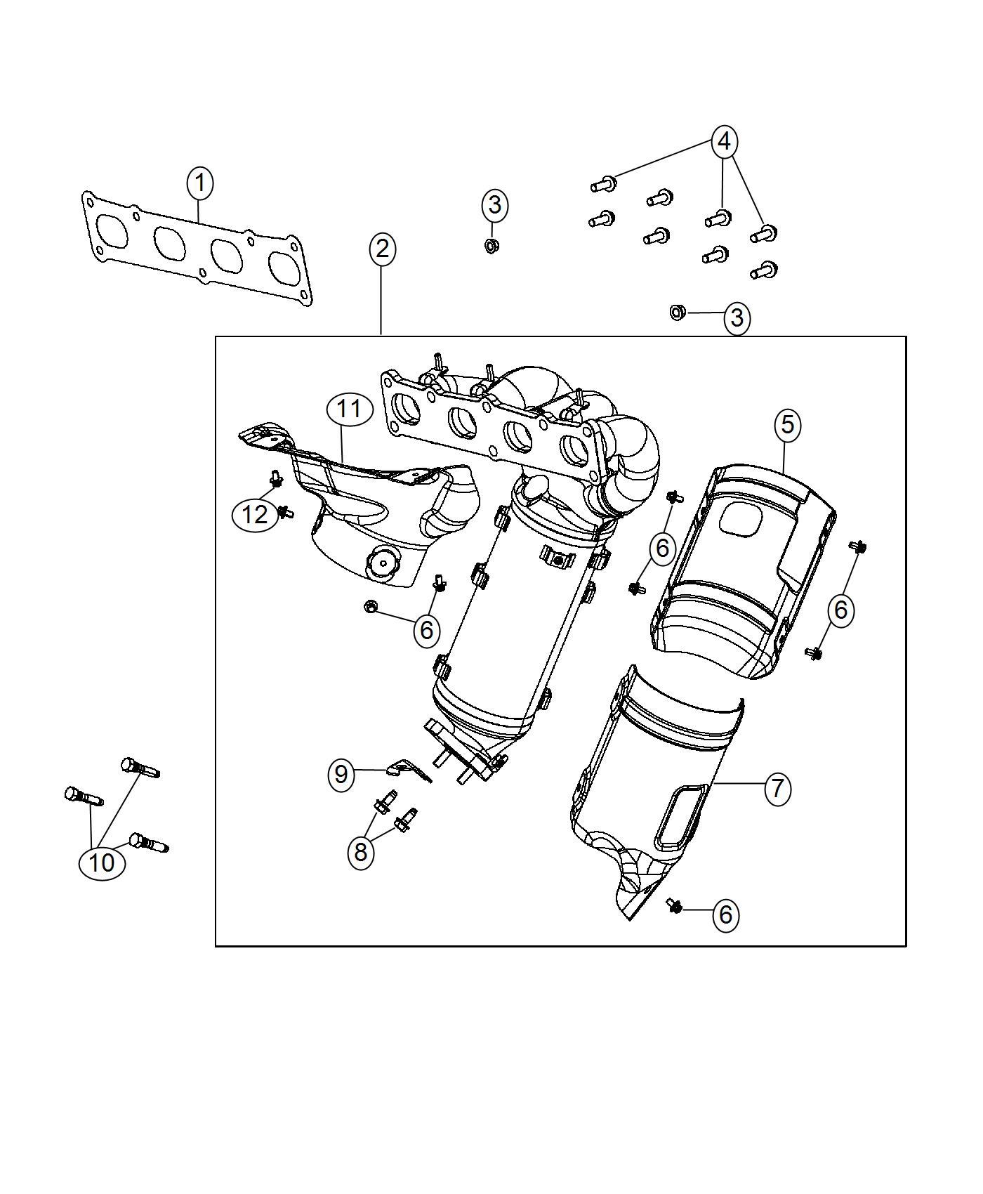 Ram Promaster City Wagon Slt Manifold Used For