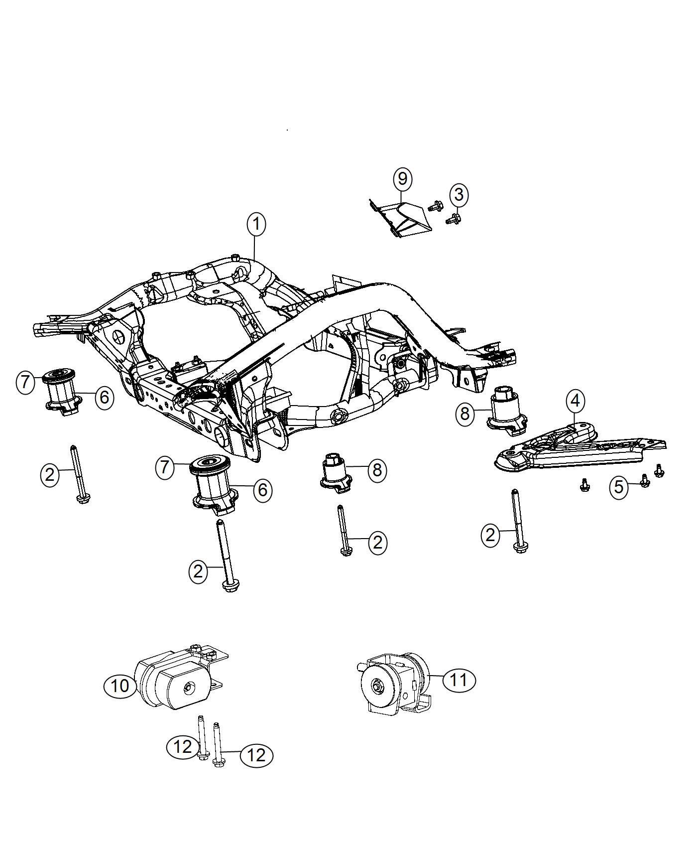 Dodge Magnum Cradle Front Suspension All V8 Engines