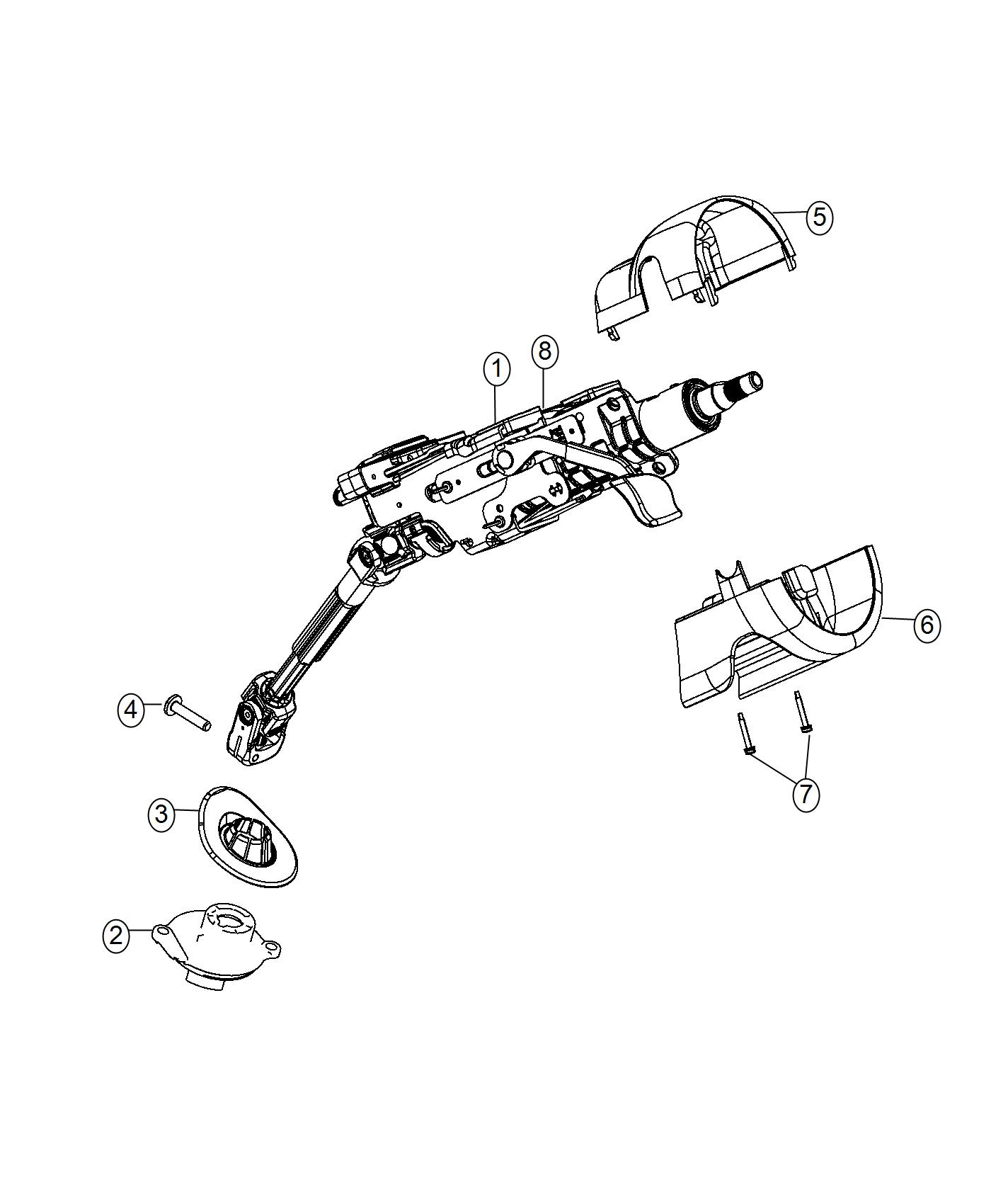 Jeep Cherokee Column Steering Tilt