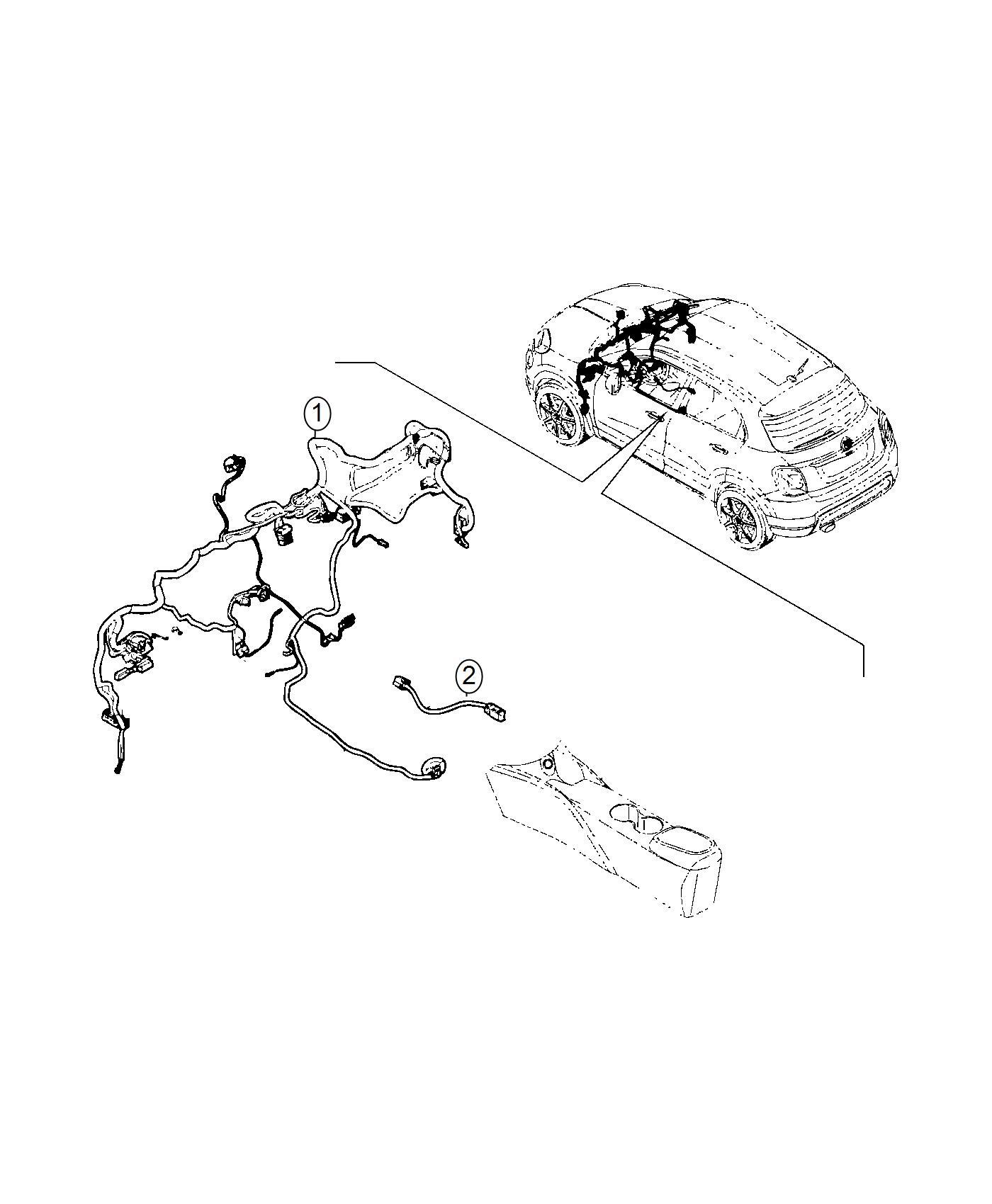 Fiat 500x Wiring Jumper Console Dynamic Control