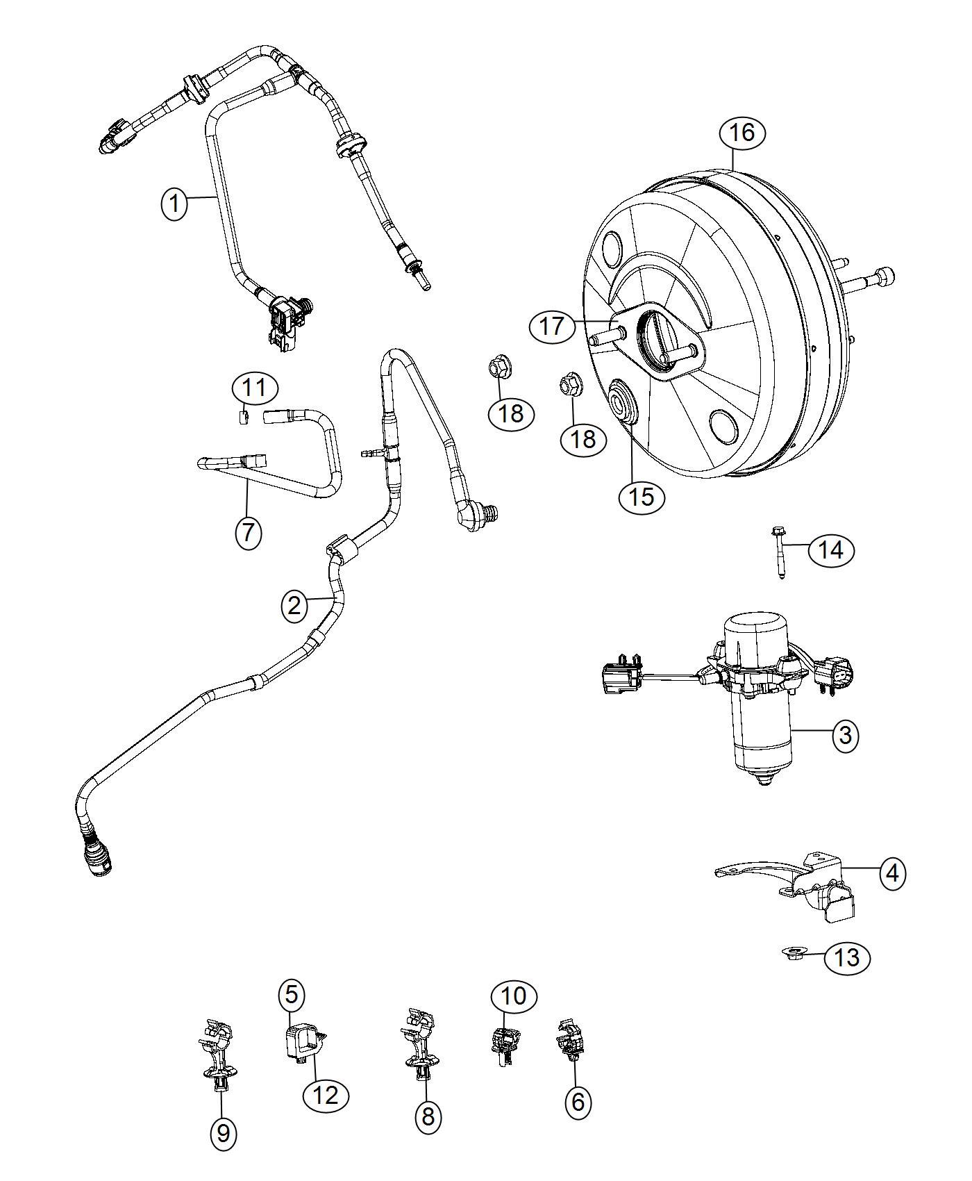 Dodge Ram Booster Power Brake Hydraulic