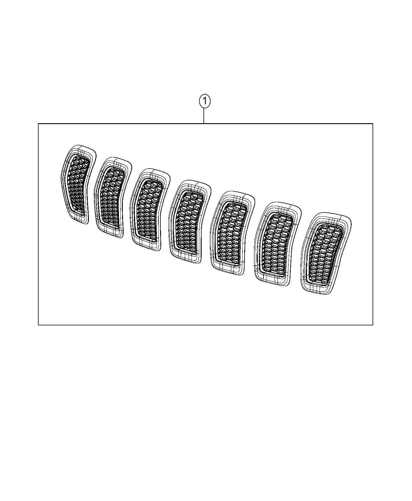 Jeep Cherokee Grille Kit Radiator Accent Color