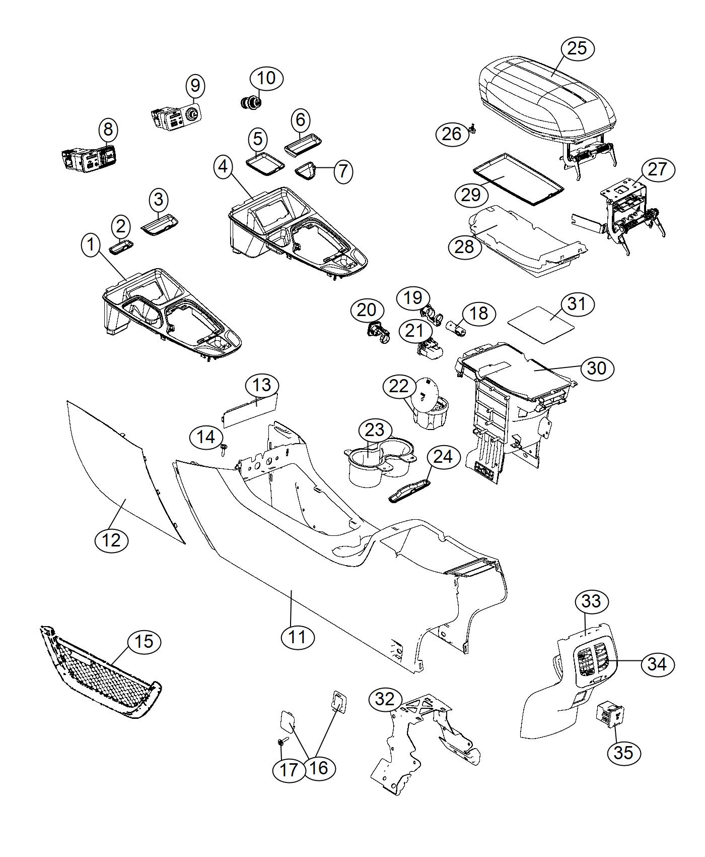 Jeep Cherokee Bezel Gear Shift Indicator 4wd Right