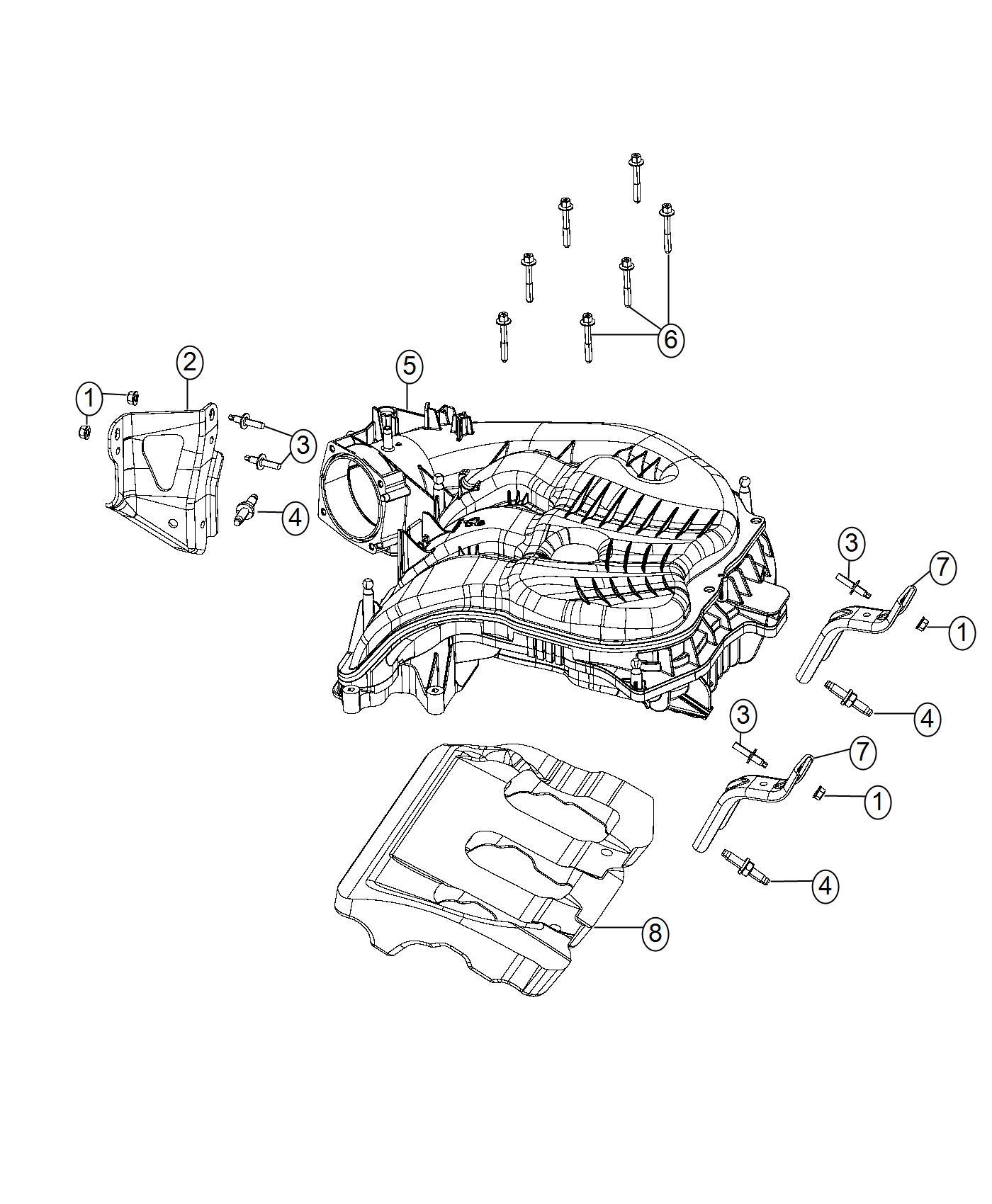 Dodge Ram Plenum Intake Manifold Engine Vvt