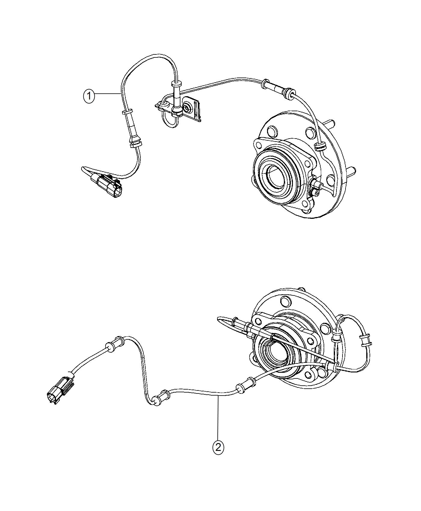 Chrysler 200 Bracket Brake Sensor Wire Right Rear