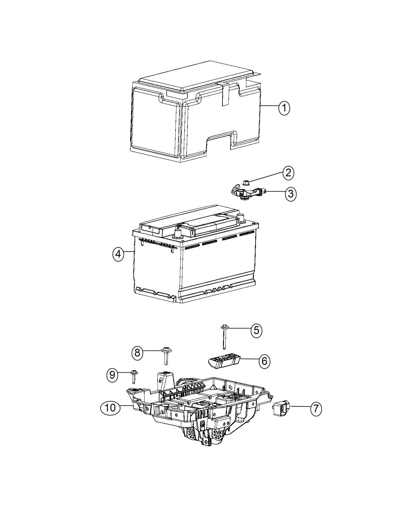 Chrysler 200 Shield Battery Free Maintenance Amp