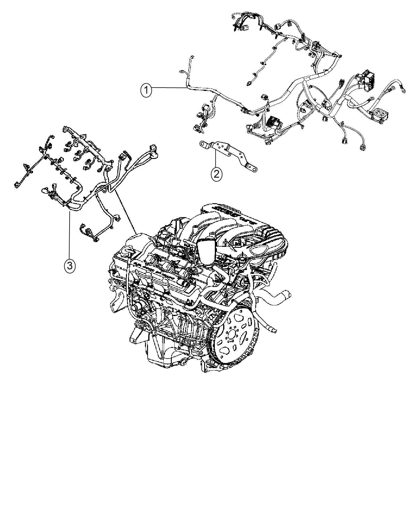 Dodge Journey Wiring Engine Includes Transmission