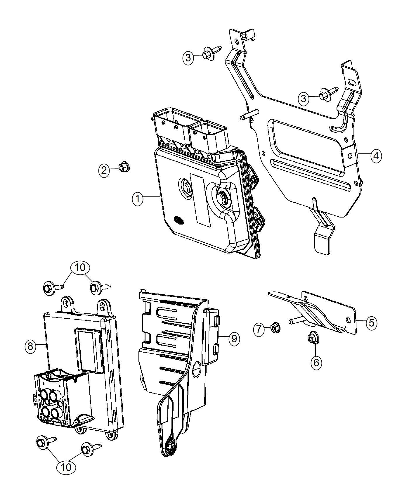 Dodge Dart Adapter Electronic Module Ecu Adapter Bracket