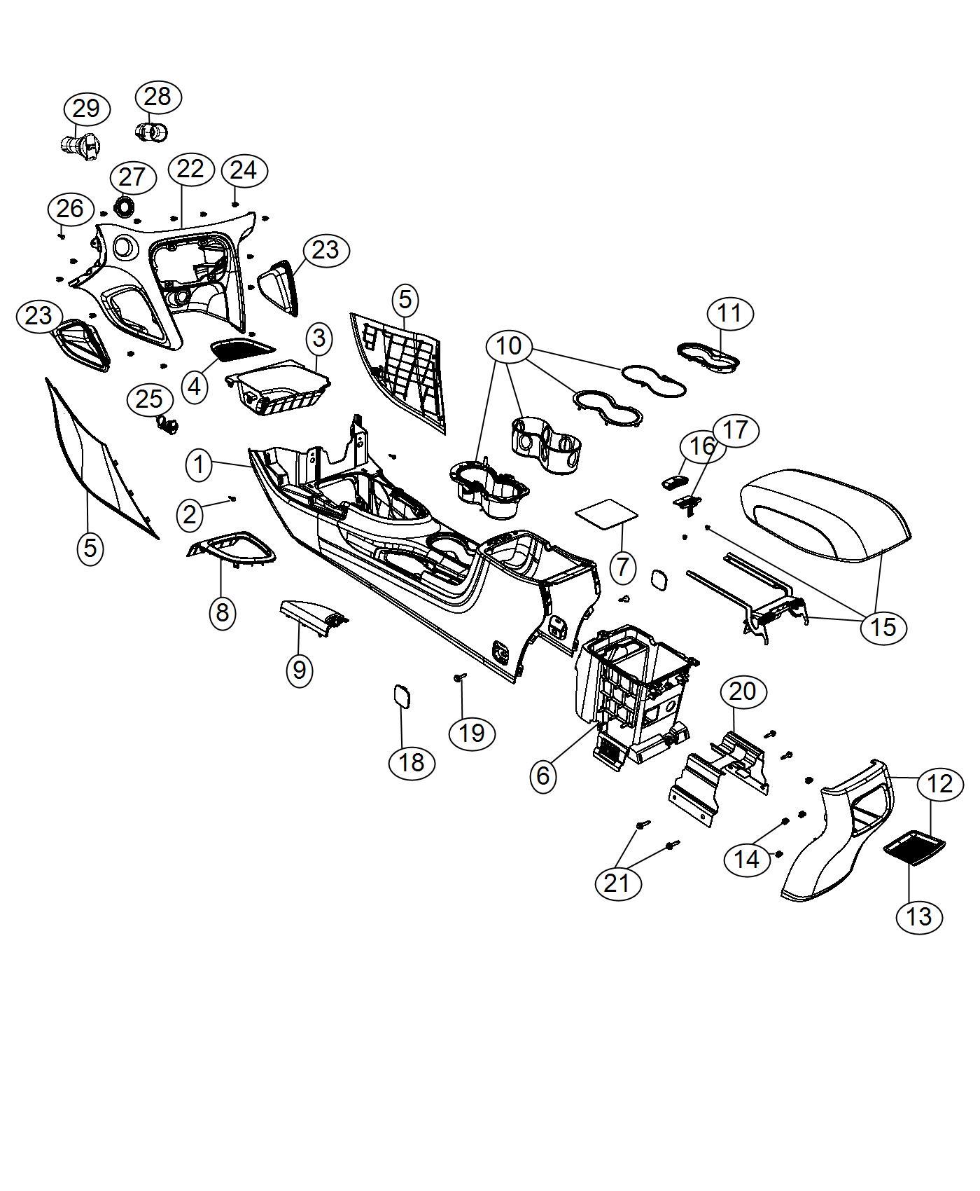Dodge Dart Plug Console Plastic Trim No