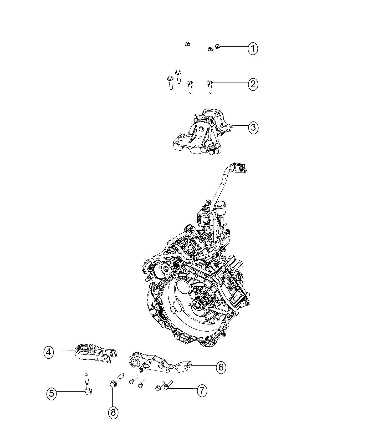 Ram Isolator Transmission Mount Assembly Engine