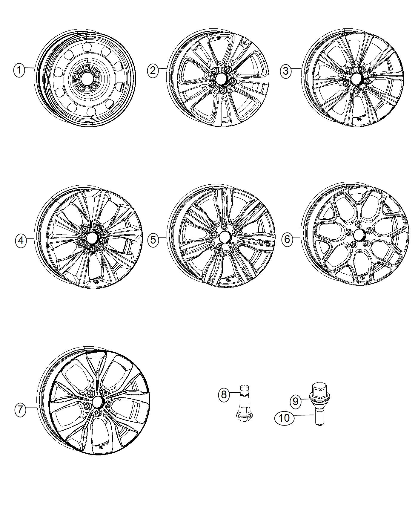 Chrysler 200 Wheel Aluminum Front Or Rear Color No