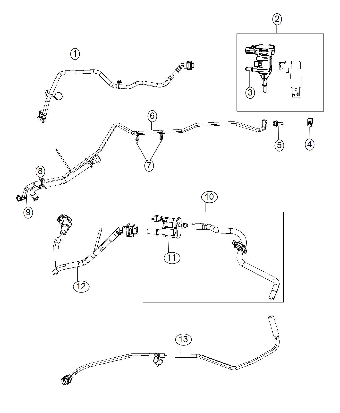 Dodge Ram Harness Vacuum Emission Control Ezc