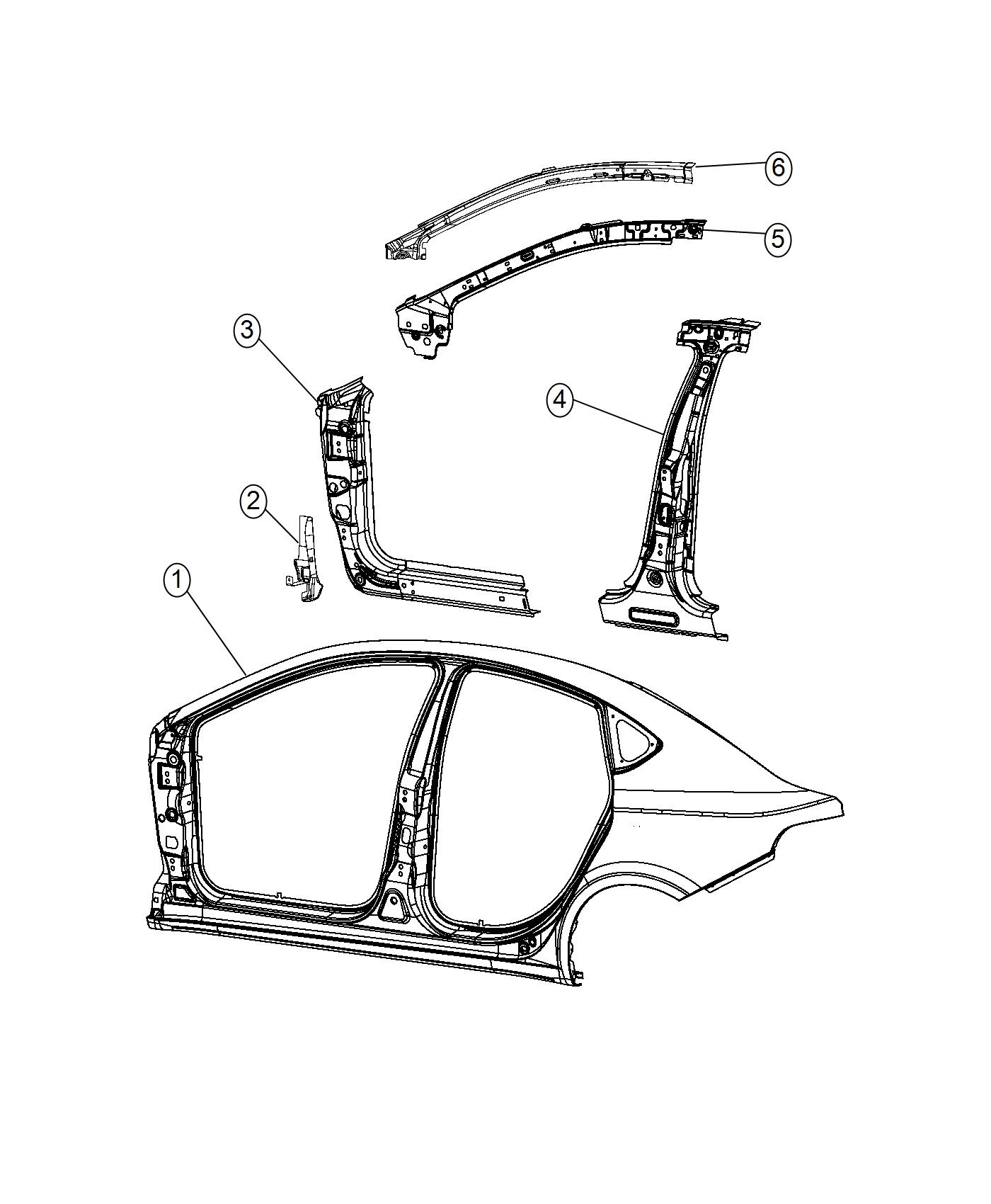 Dodge Dart Panel Body Side Aperture Outer Right
