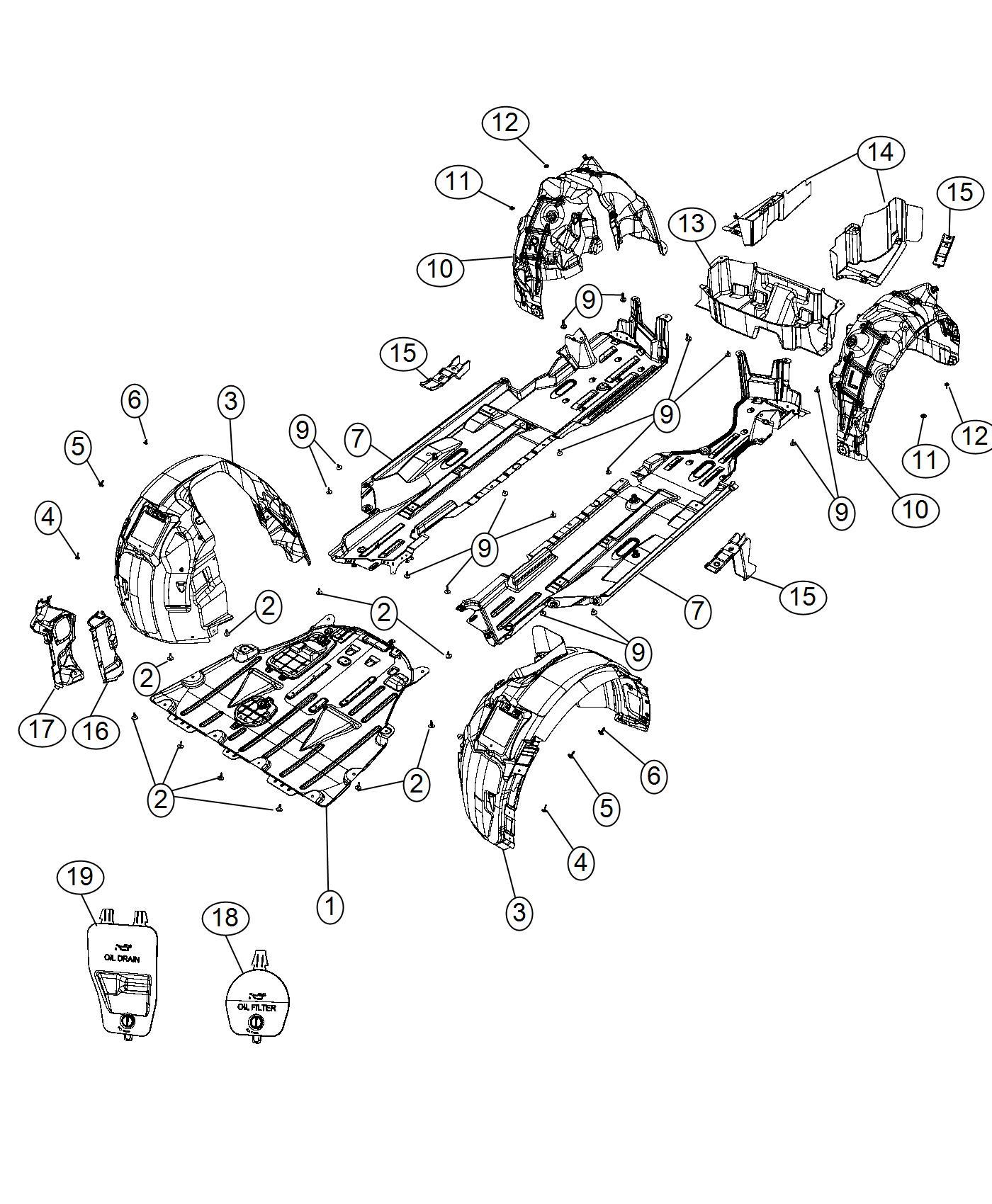 Chrysler 200 Panel Diffuser Rear Suspension
