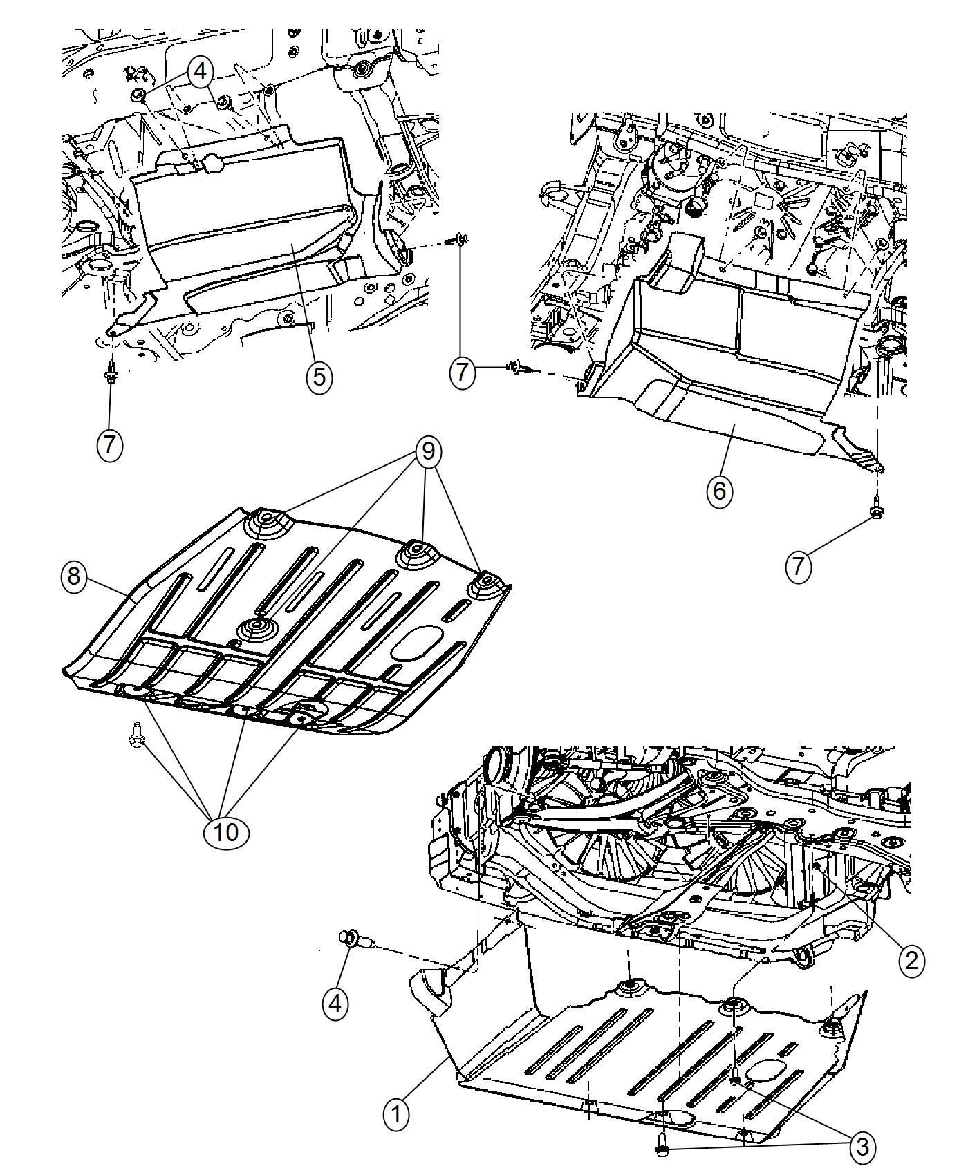 Dodge Caliber Underbody Diagram