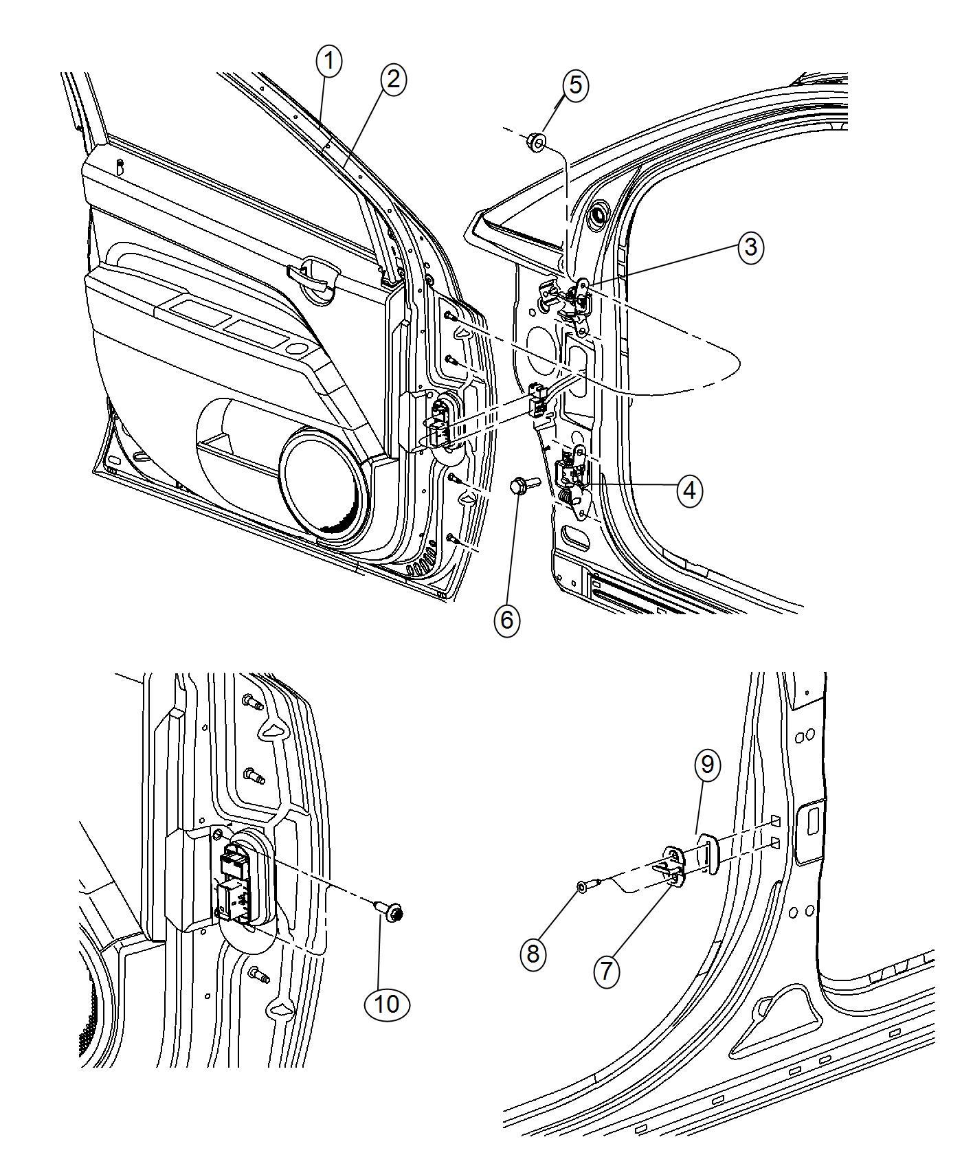 Jeep Patriot Screw Hex Head Door Grommet To Door