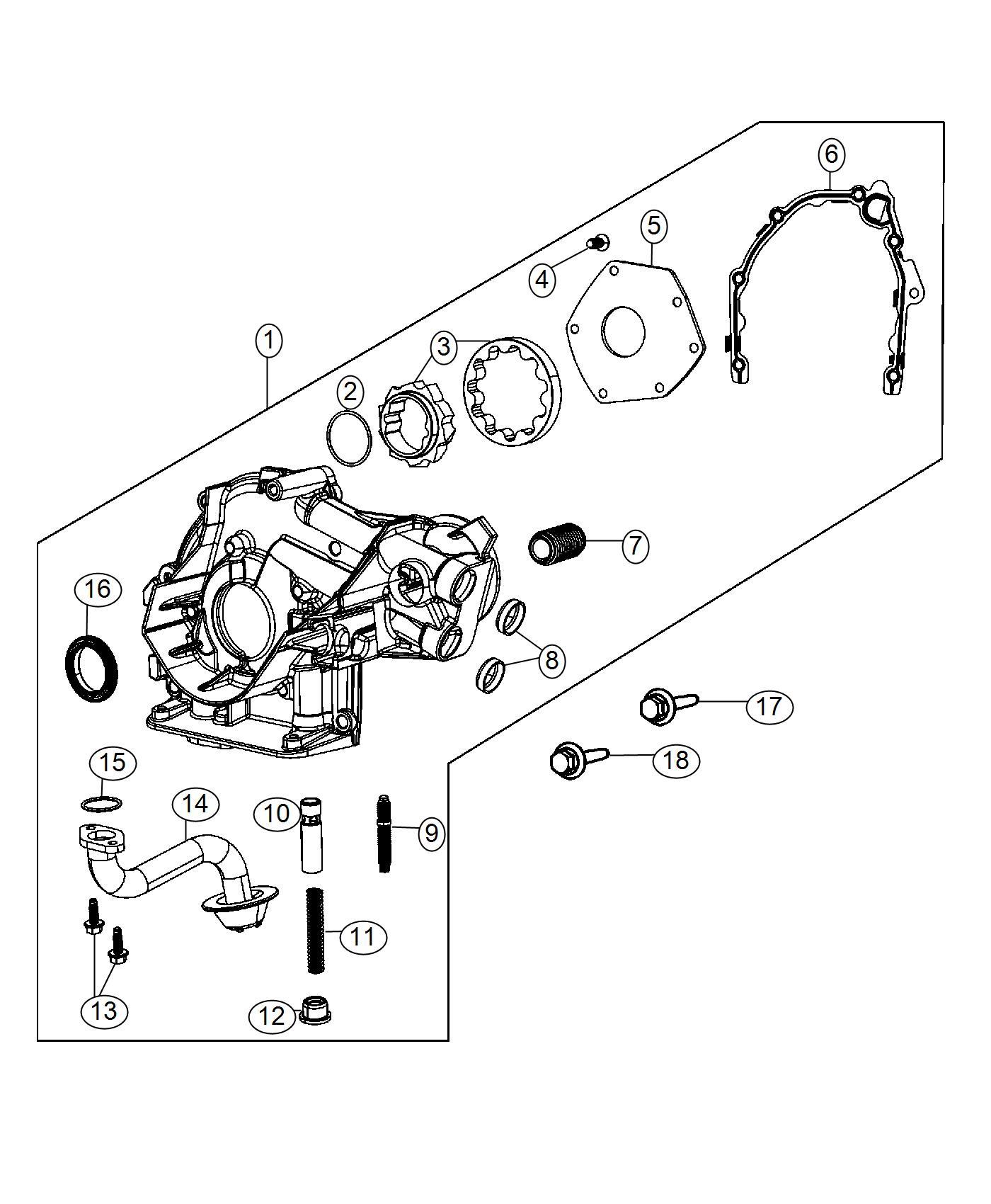 Dodge Dart Gasket Oil Pump Engine Oiling