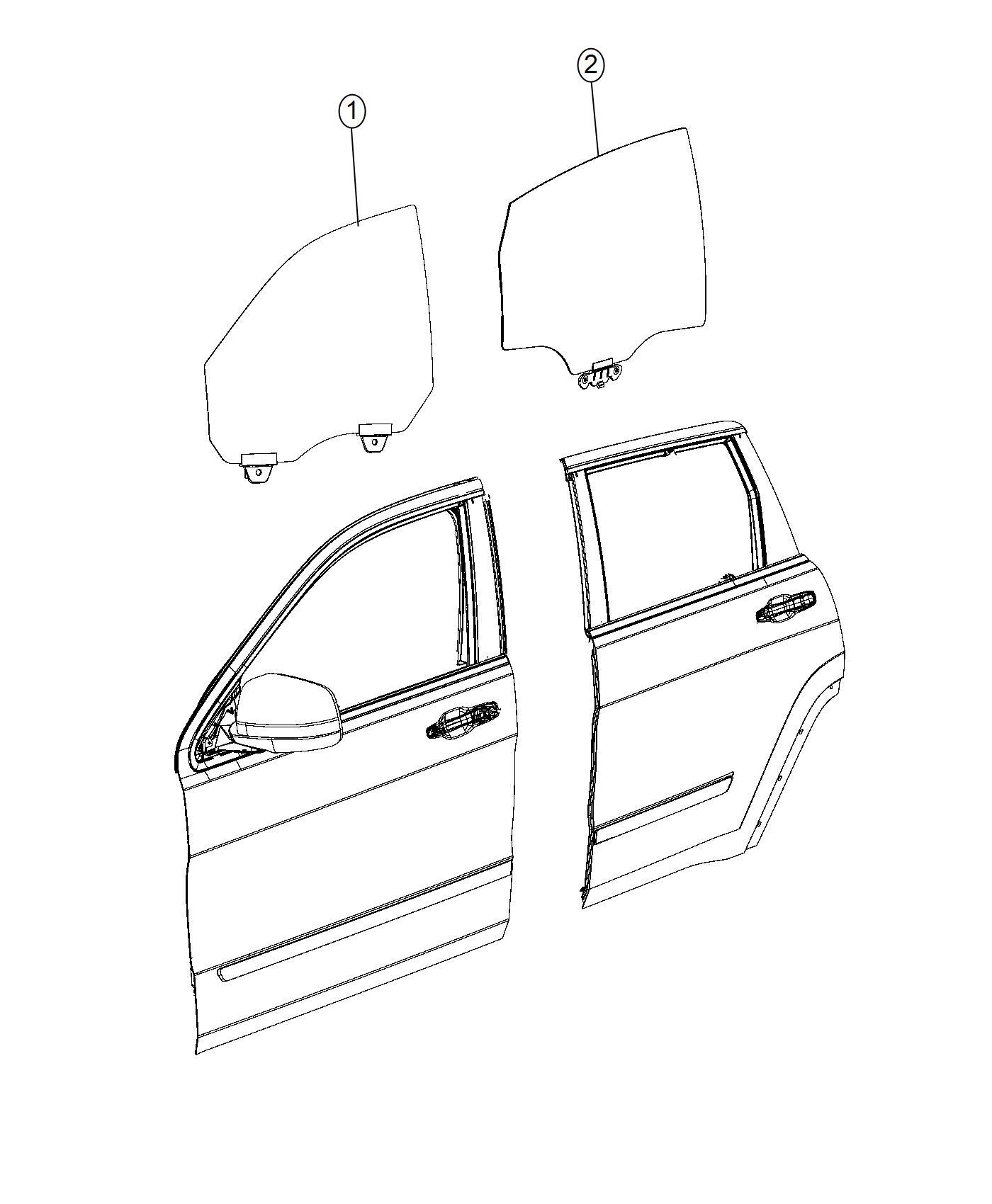 Chrysler 200 Glass Rear Door Right