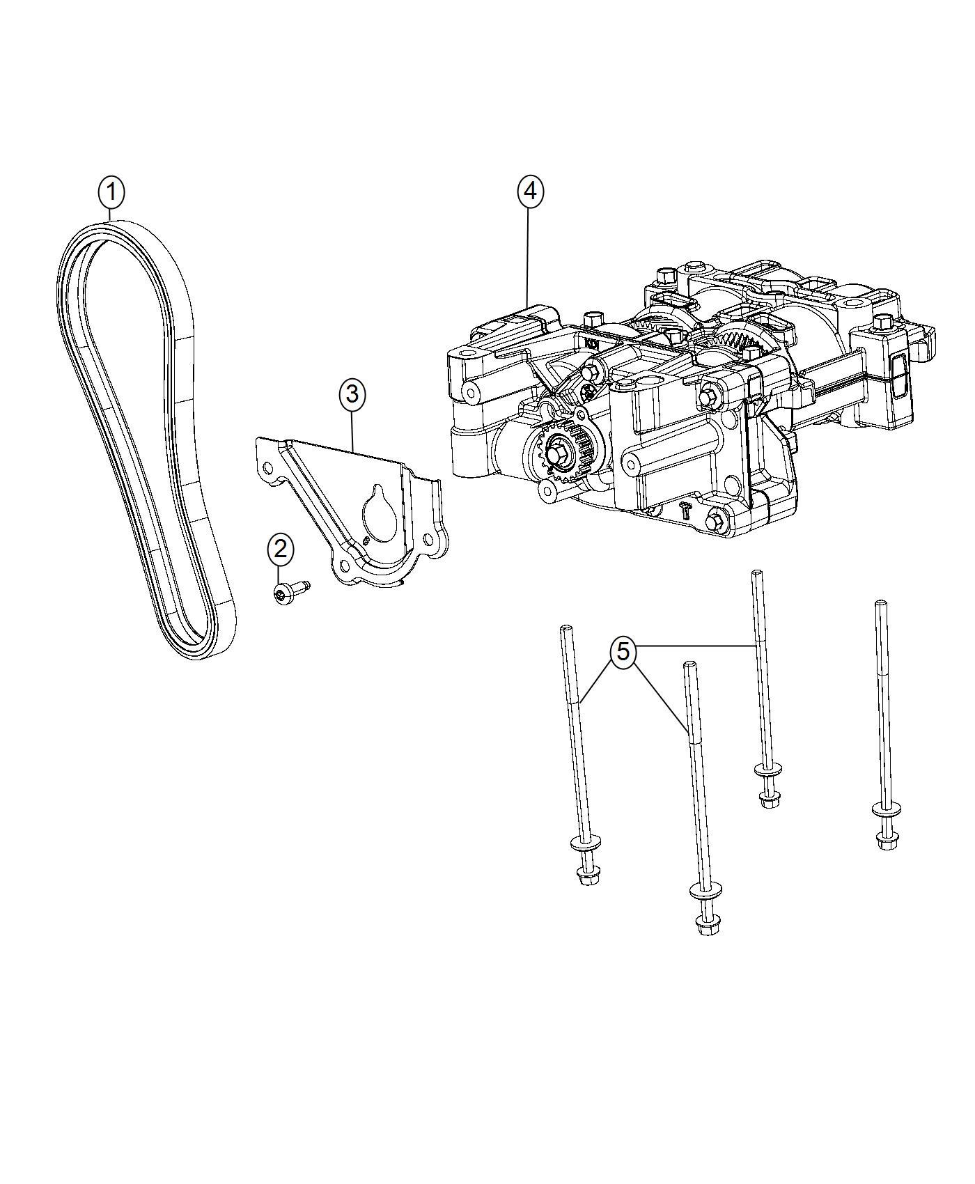 Chrysler 200 Cover Balance Shaft Oil Pump Splash Shield