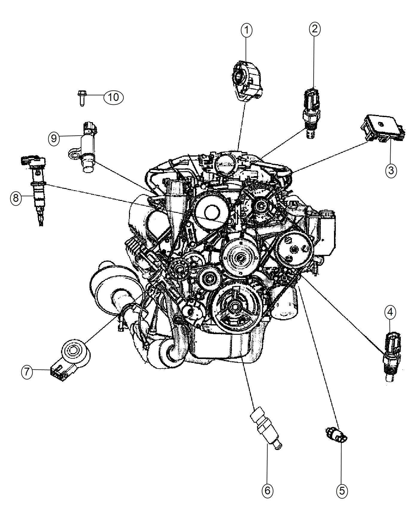Chrysler 200 Sensor Fluid Temperature Head