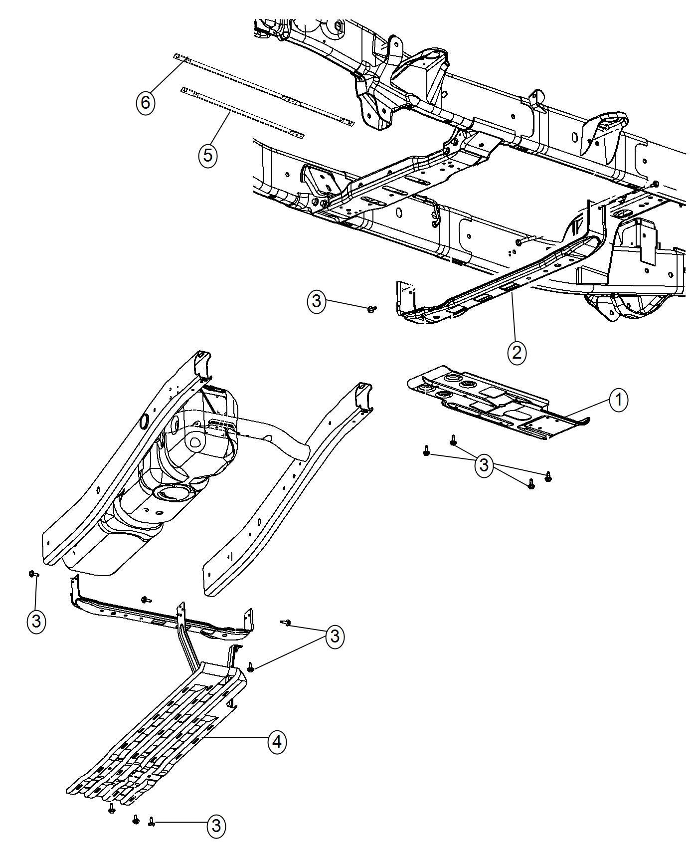 Ram Skid Rail Underbody Plate Shield Case