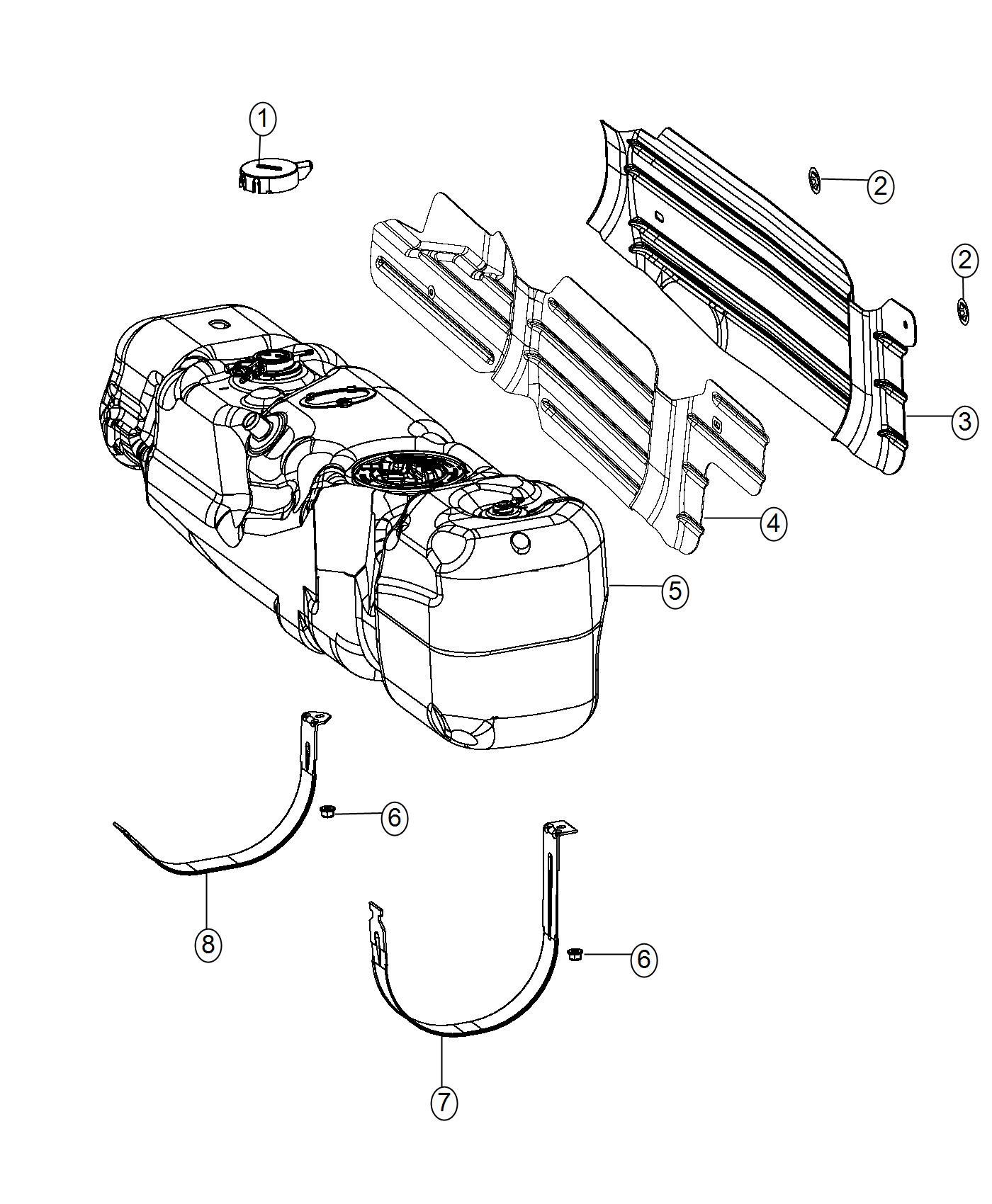 Ram Shield Fuel Tank Heat 32 Gallon Fuel Tank