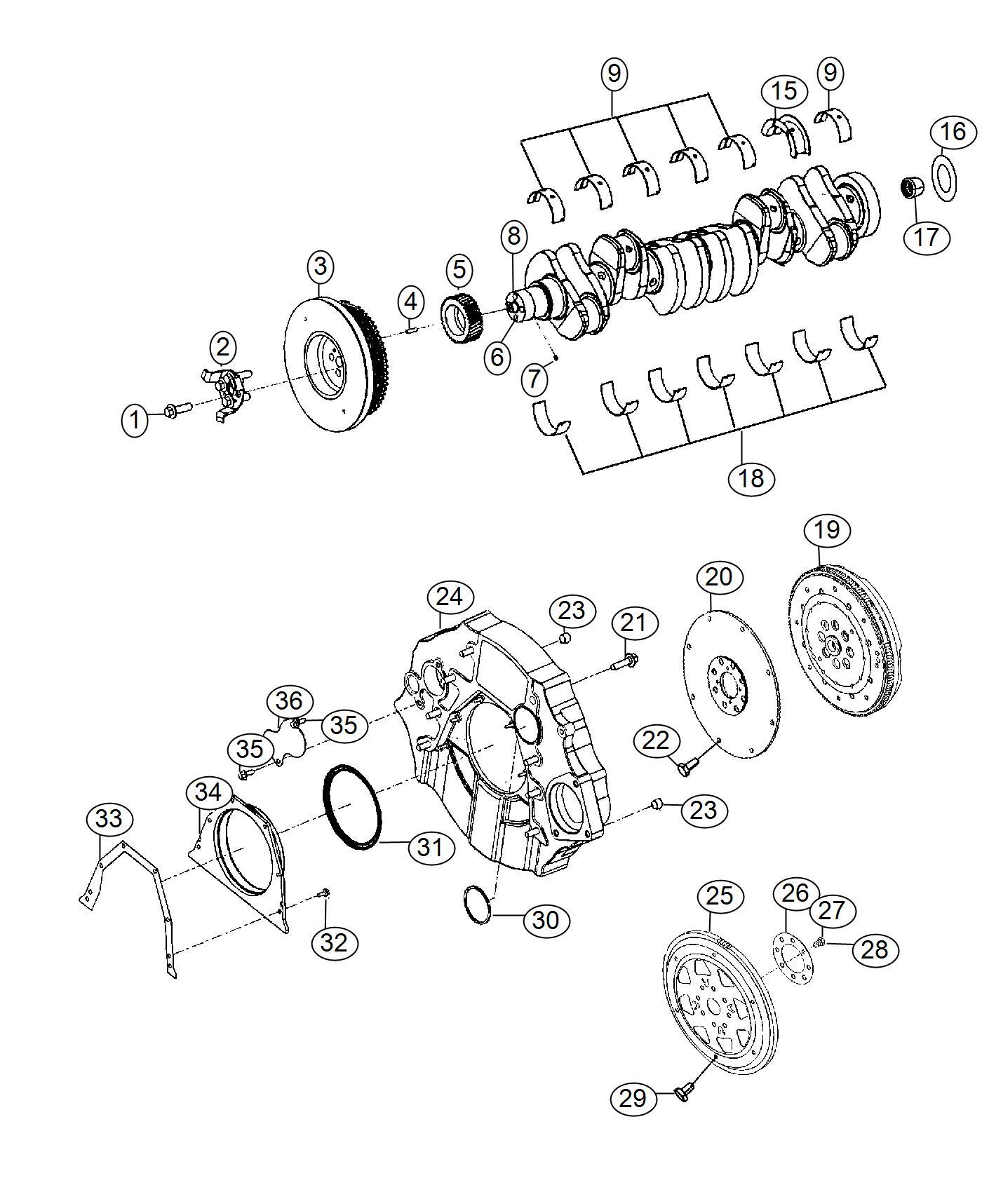 Ram Seal Crankshaft Oil Rear Automatic