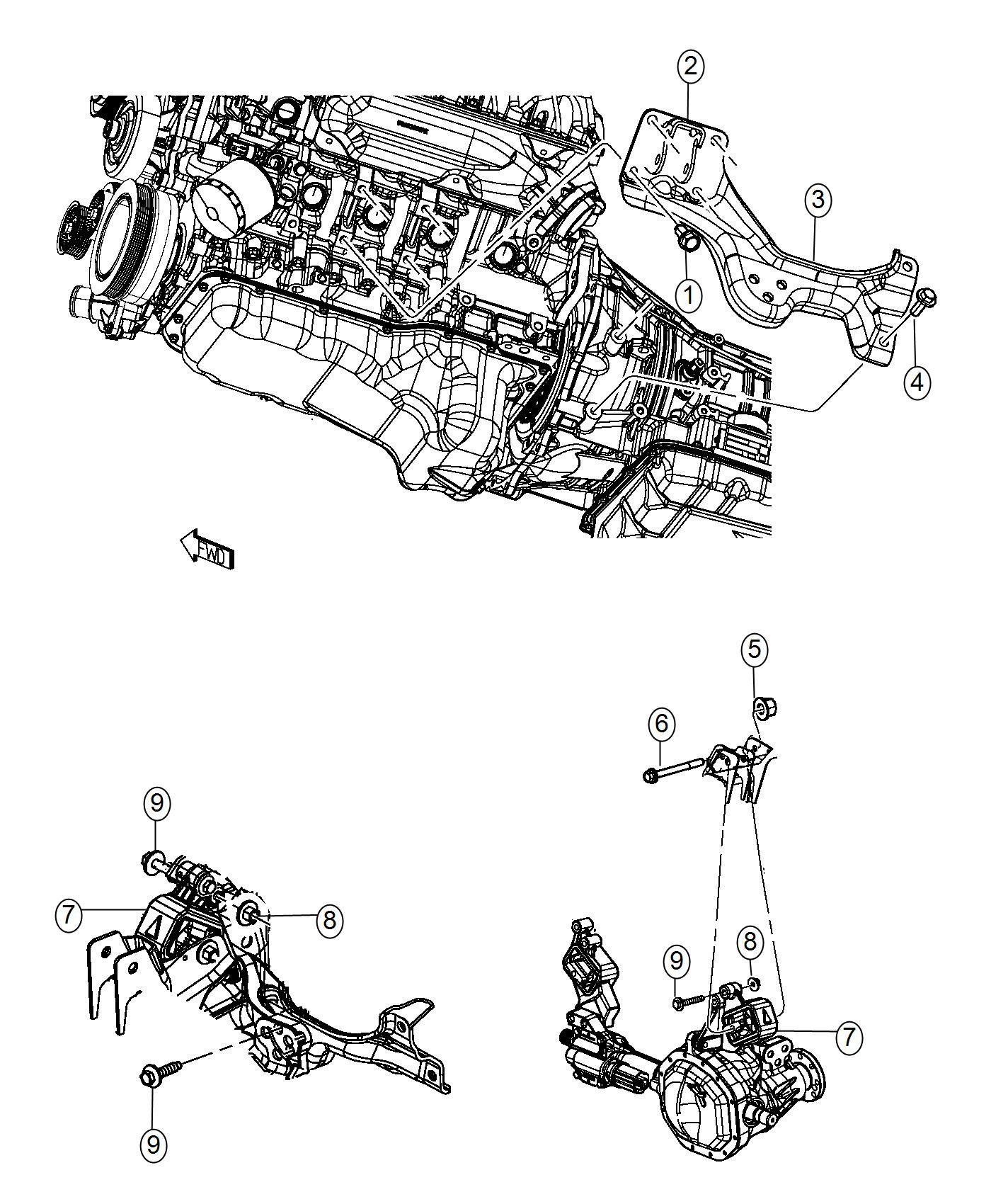 Ram Insulator Engine Mount Left Side Mounting