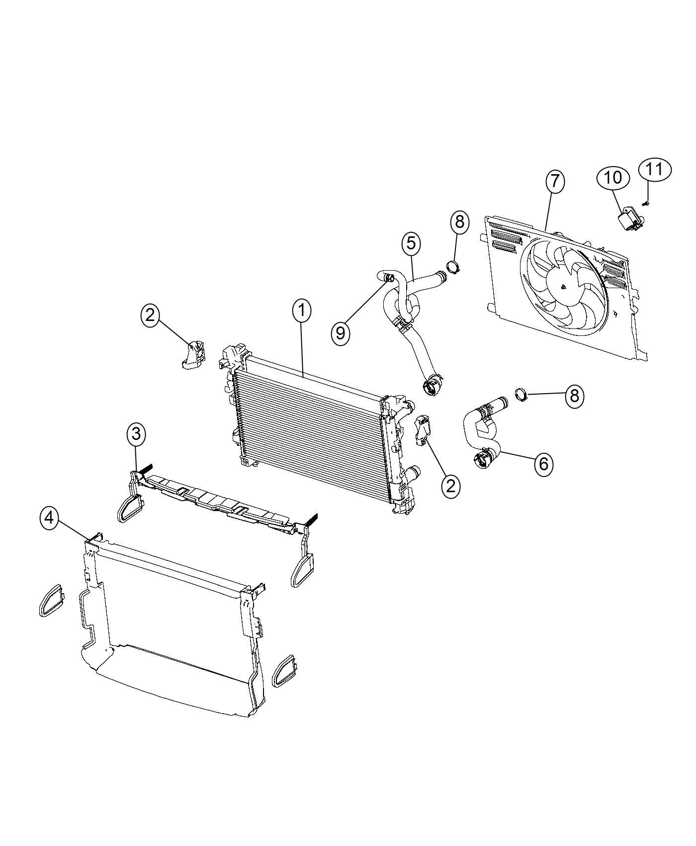 Ram Promaster City Wagon Fan Module Radiator Cooling