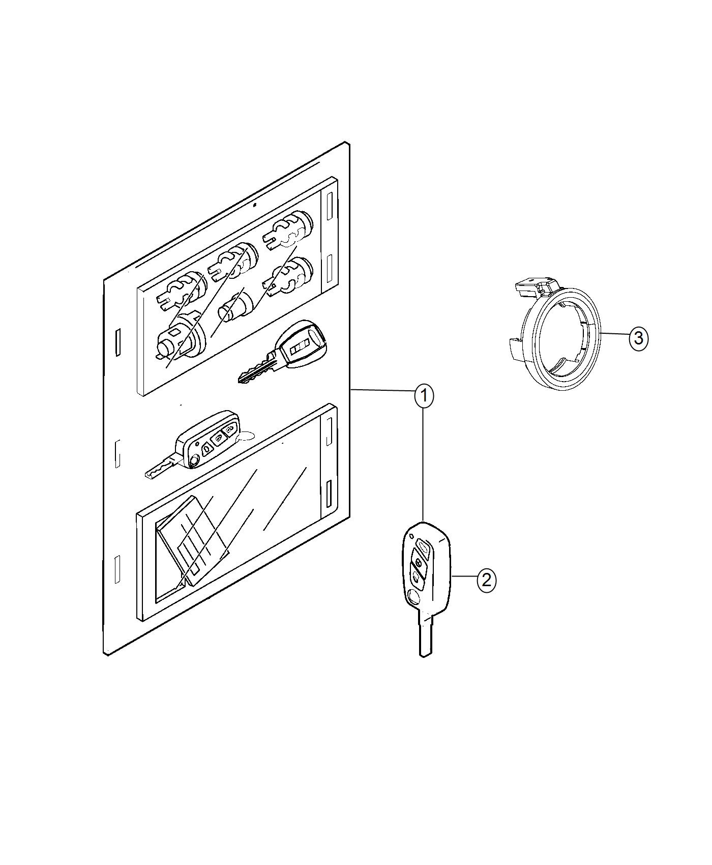 Ram Promaster City Wagon Key Blank With Transmitter