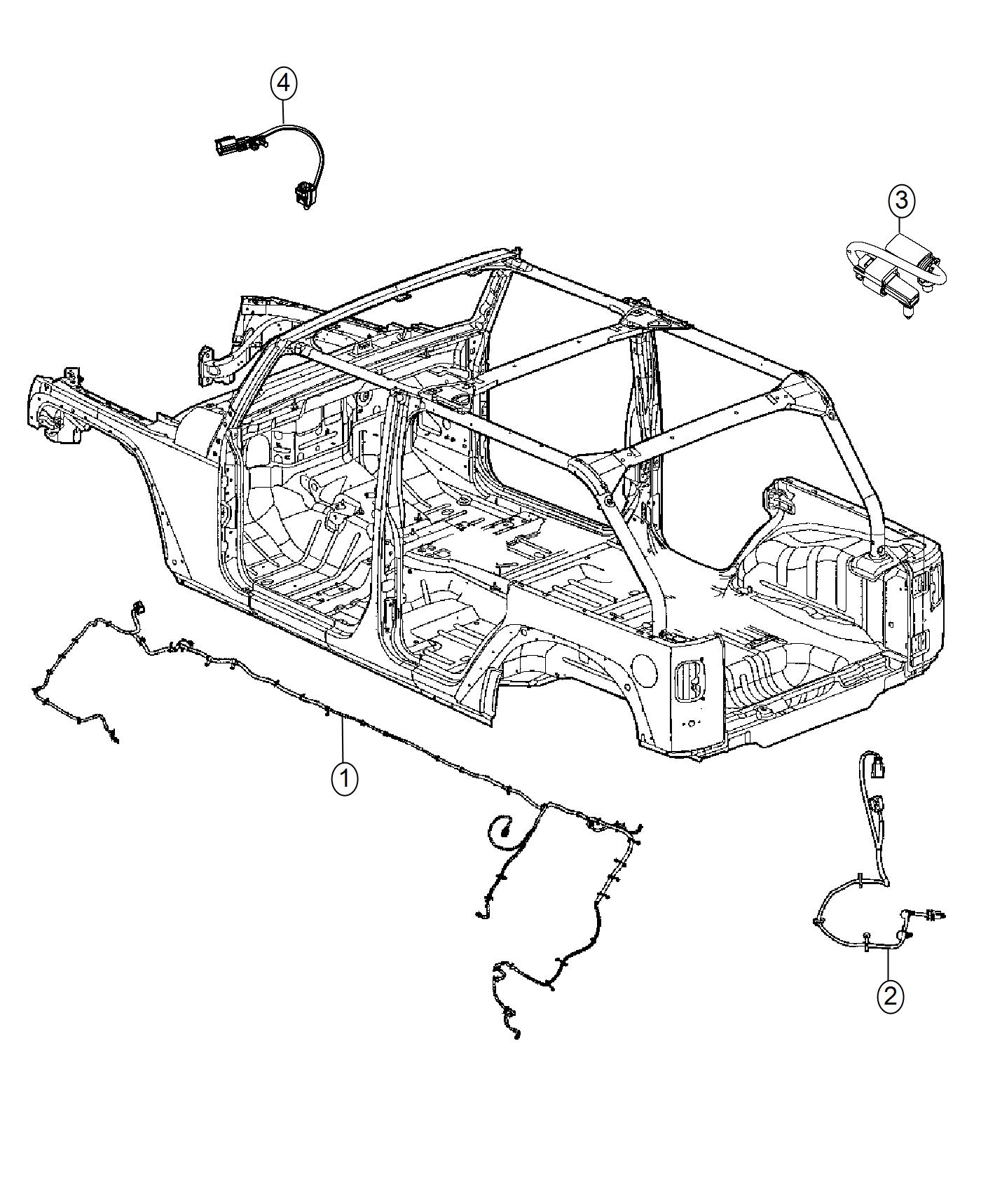 Jeep Wrangler Wiring Chassis Complete Chassis Parts Module