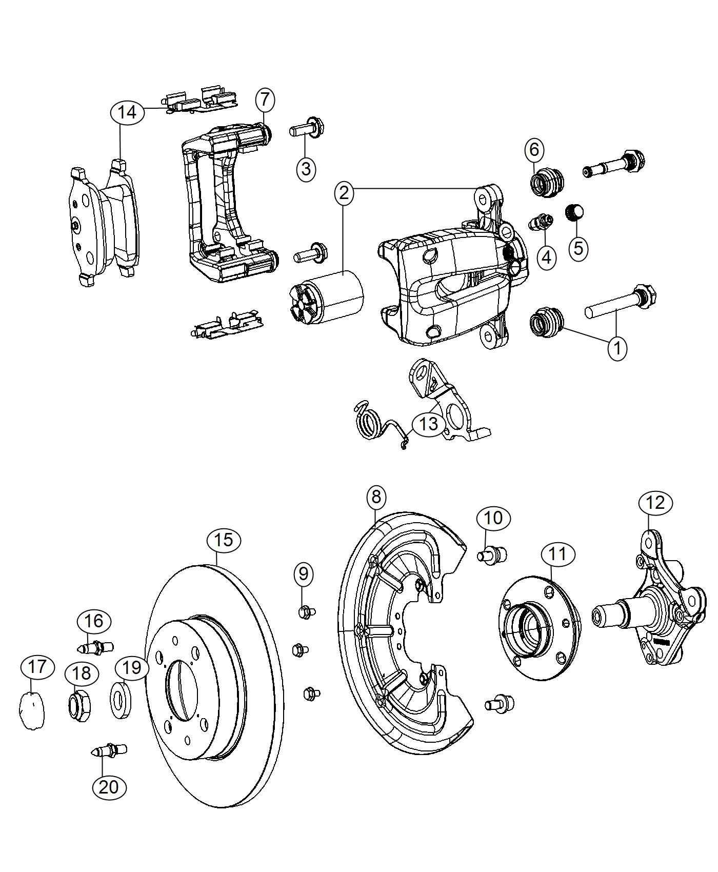 Fiat 500 Pad Kit Rear Disc Brake Brakes Abs Whl