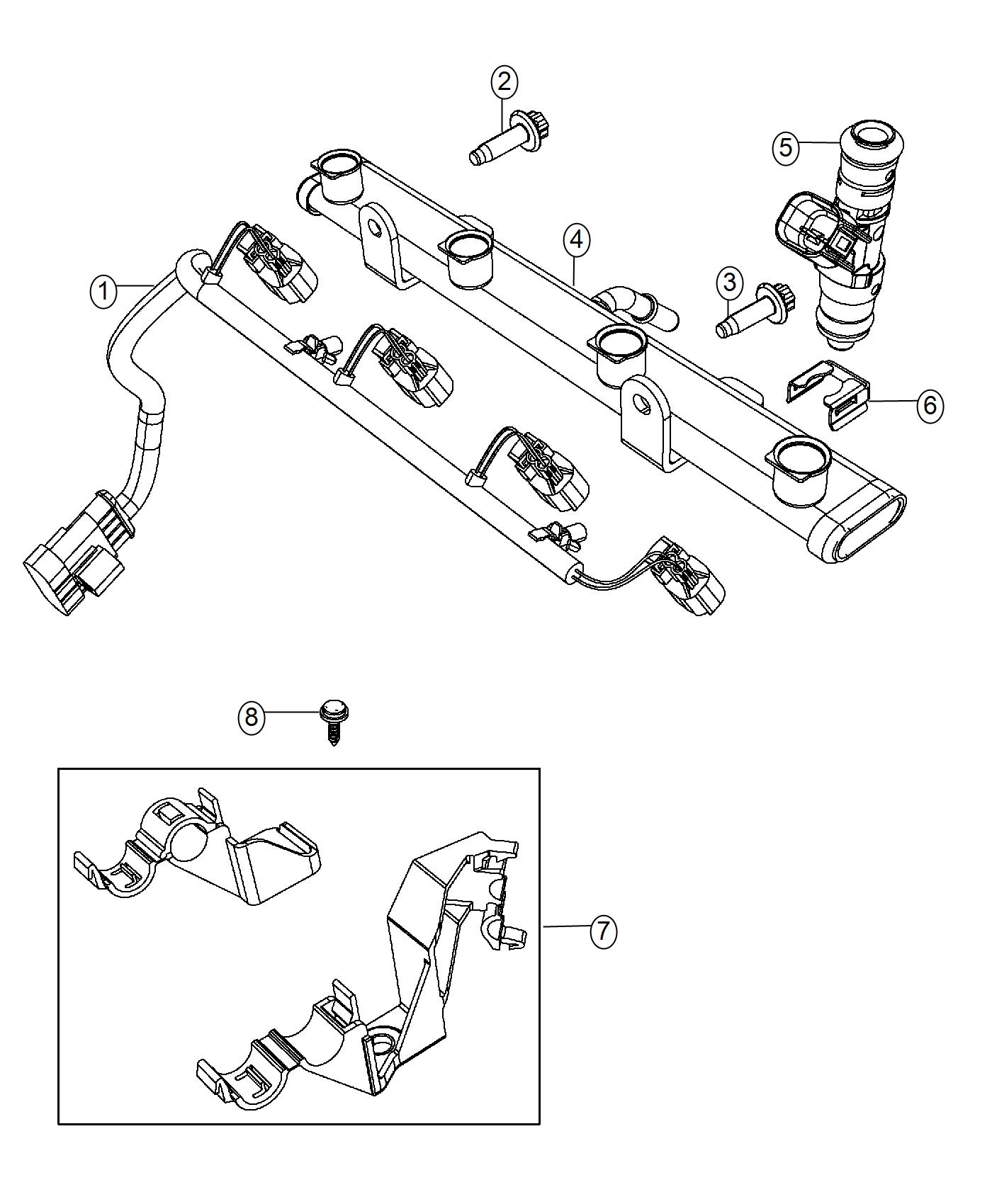 Fiat 500 Clip Fuel Injector Cold Start Injector