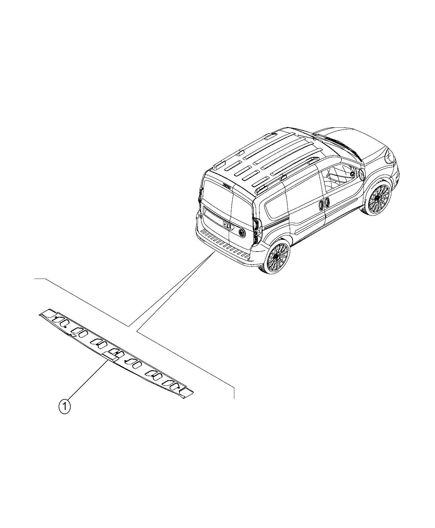 Ram Promaster City Wagon Slt Molding Cargo Door Trim No Description Available Color O0
