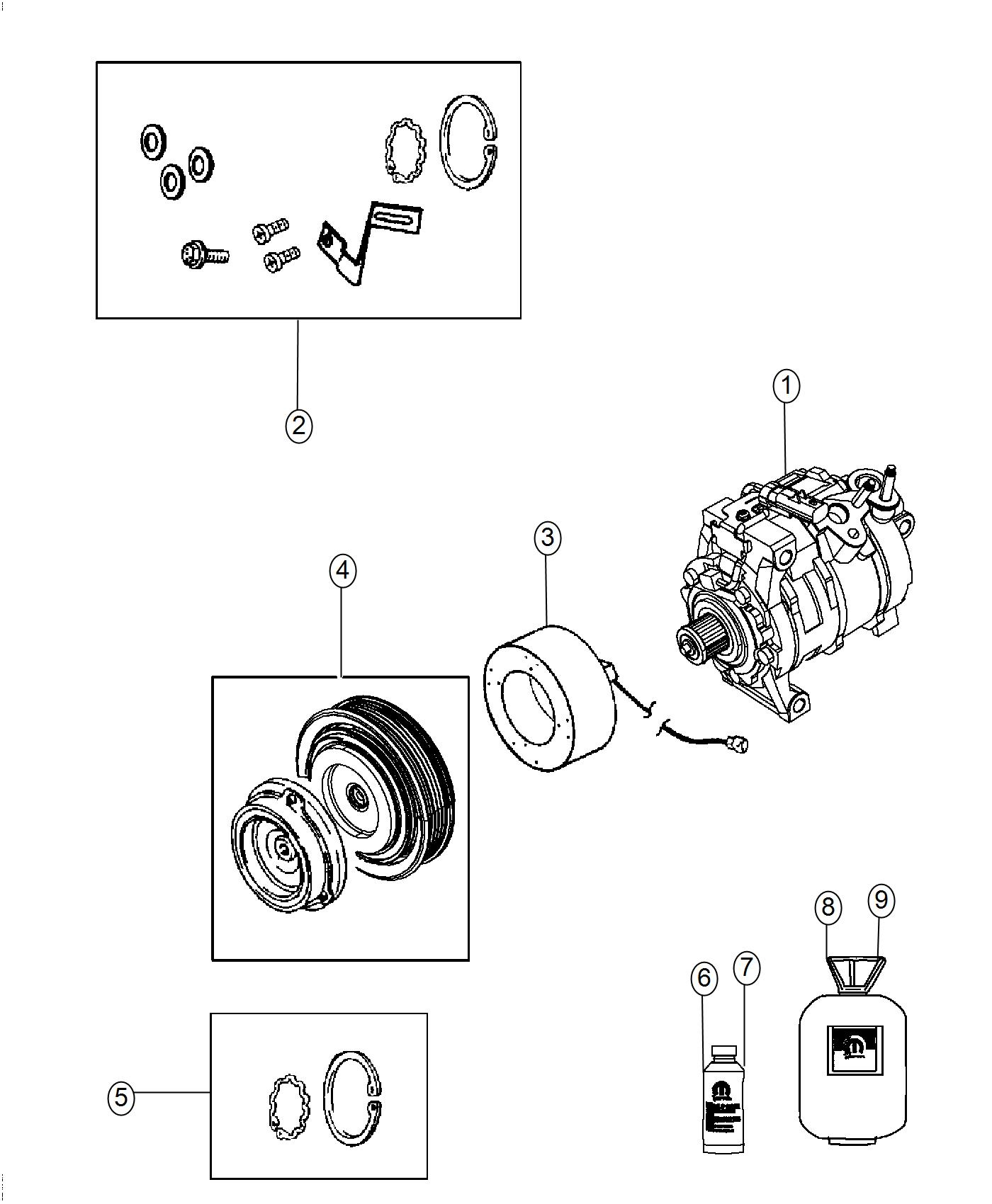 Dodge Challenger Clutch Overhaul Kit A C Compressor