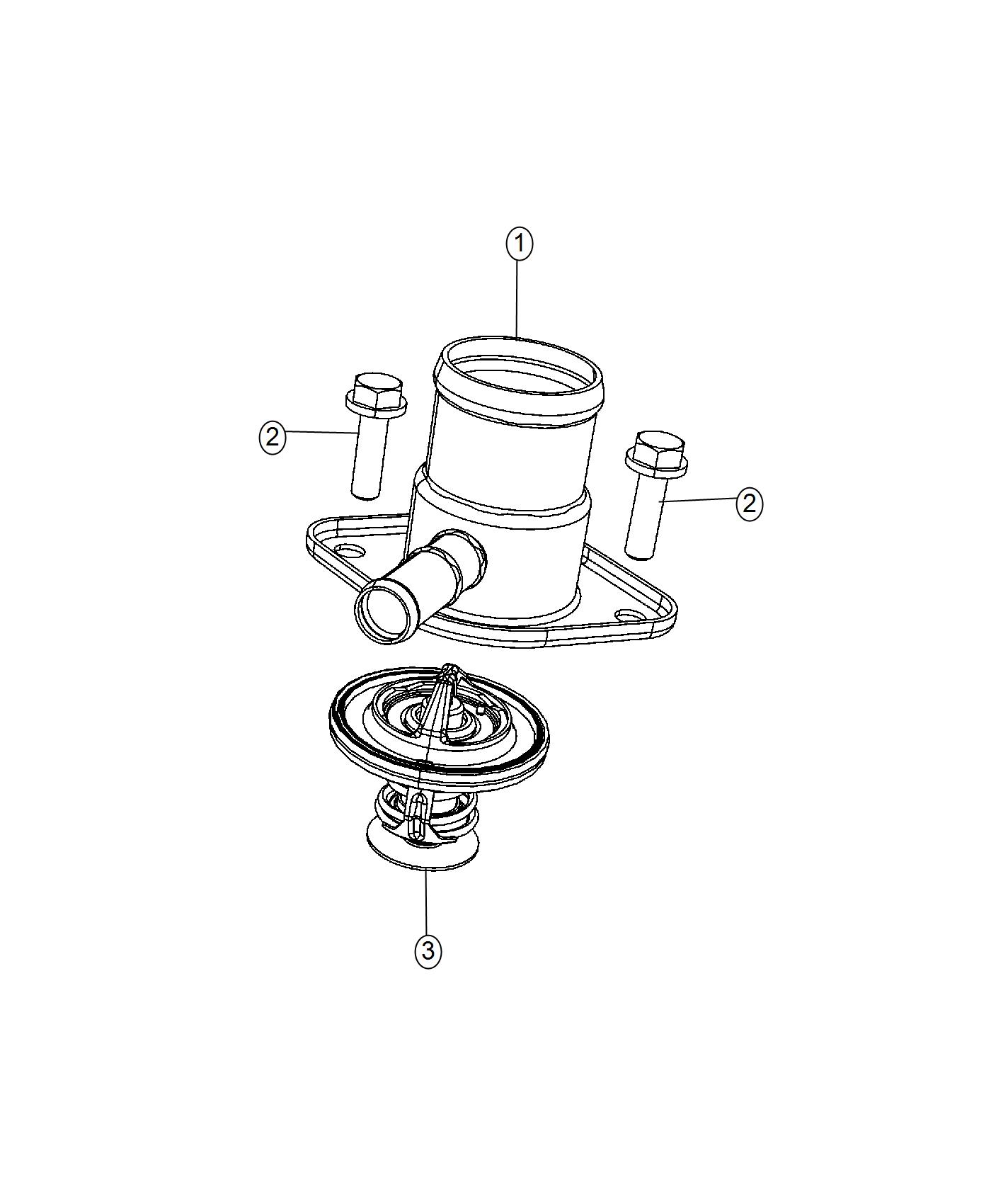 Dodge Charger Housing Thermostat Related Water Pump