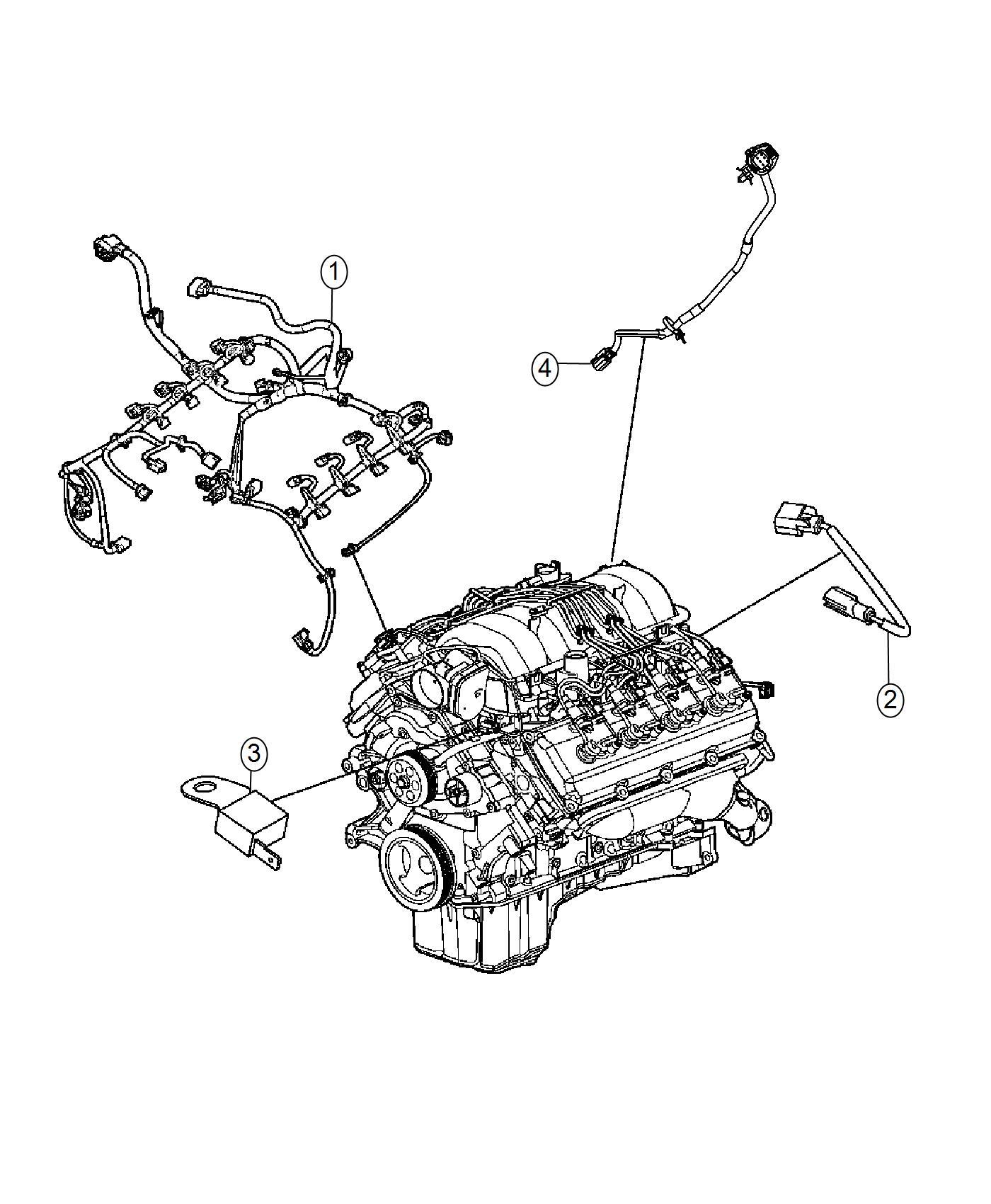 Dodge Challenger Wiring Engine Powertrain Mopar