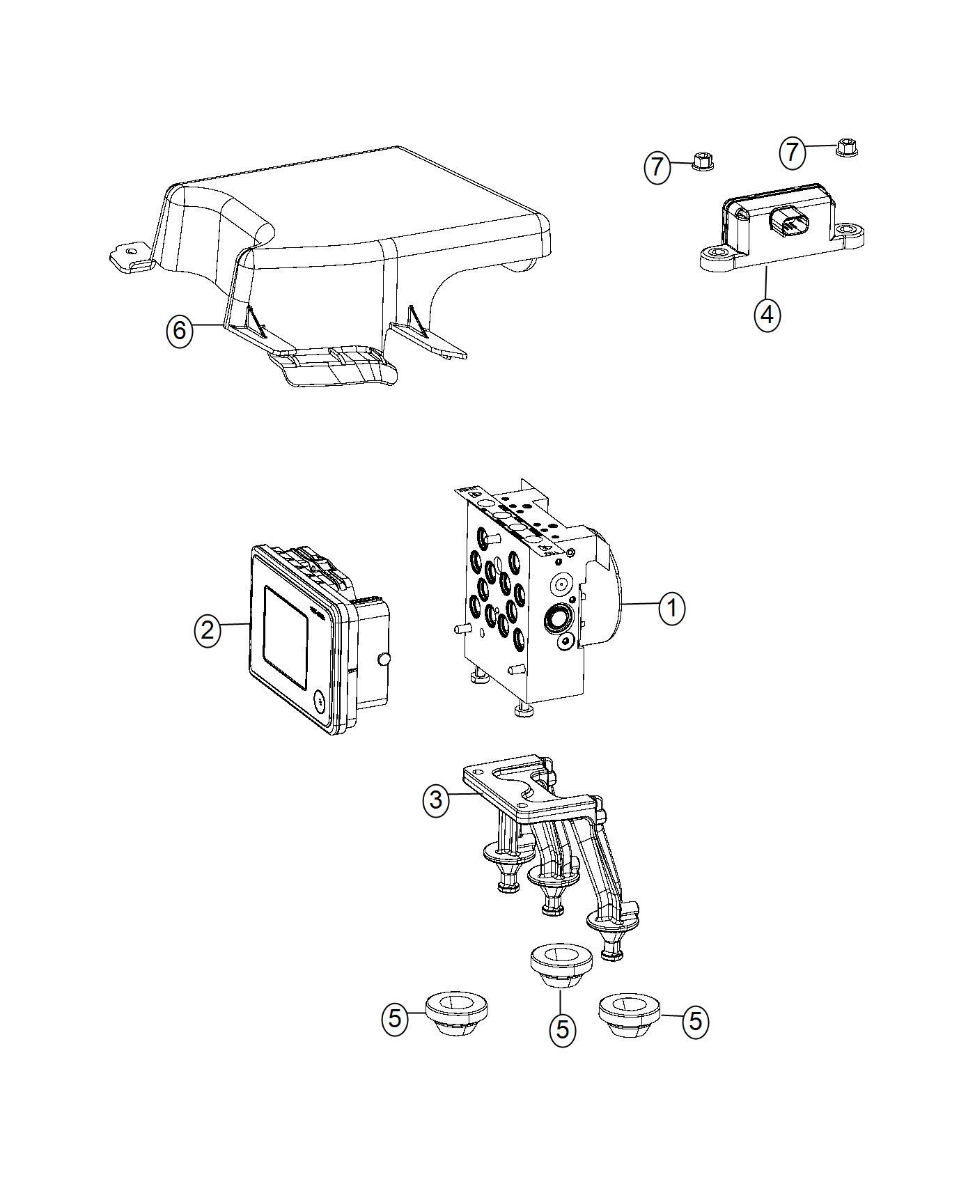 Dodge Challenger Cover Kit Abs Control Unit Brake Modules Module