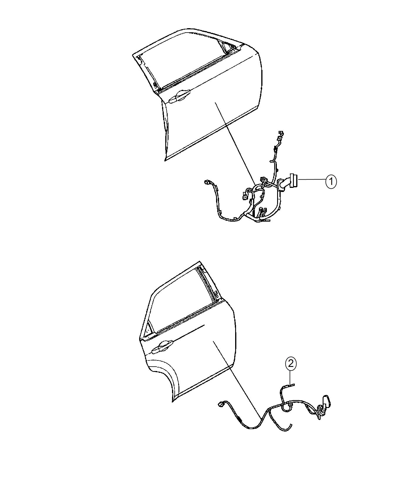Dodge Charger Wiring Rear Door Left Rear 6 Speakers