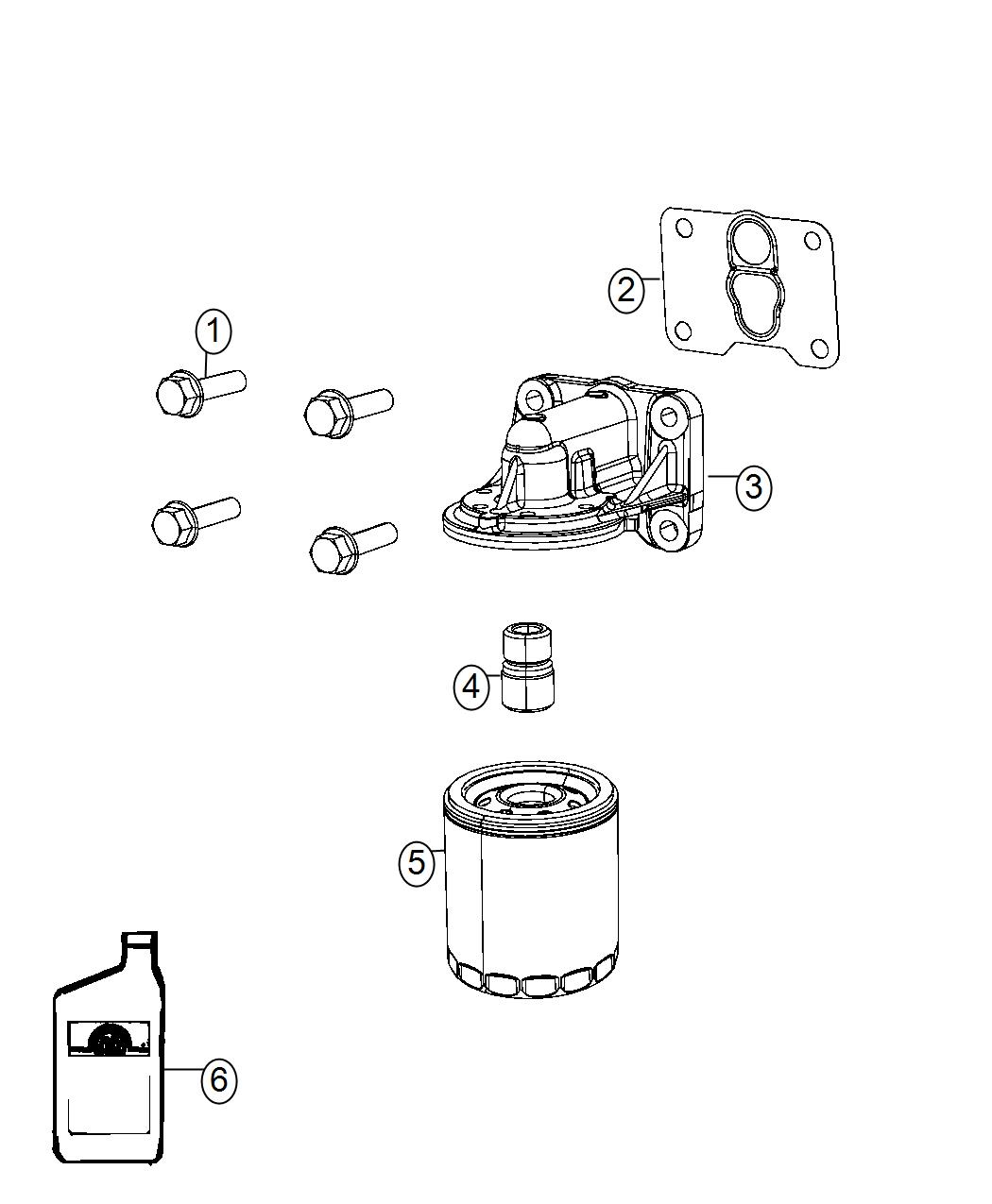Jeep Cherokee Adapter Oil Filter Engine