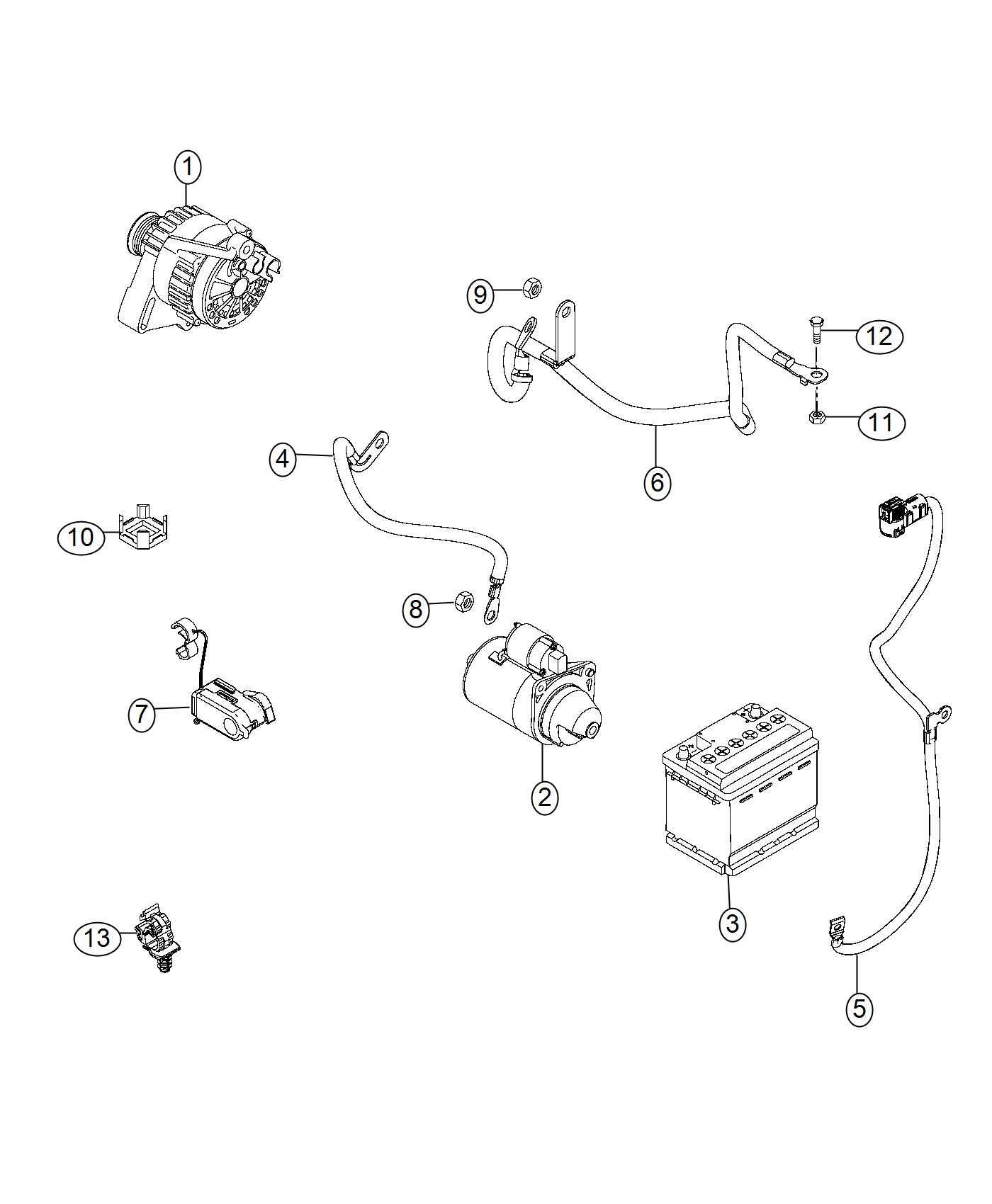 Jeep Renegade Wiring Battery Positive Export Us