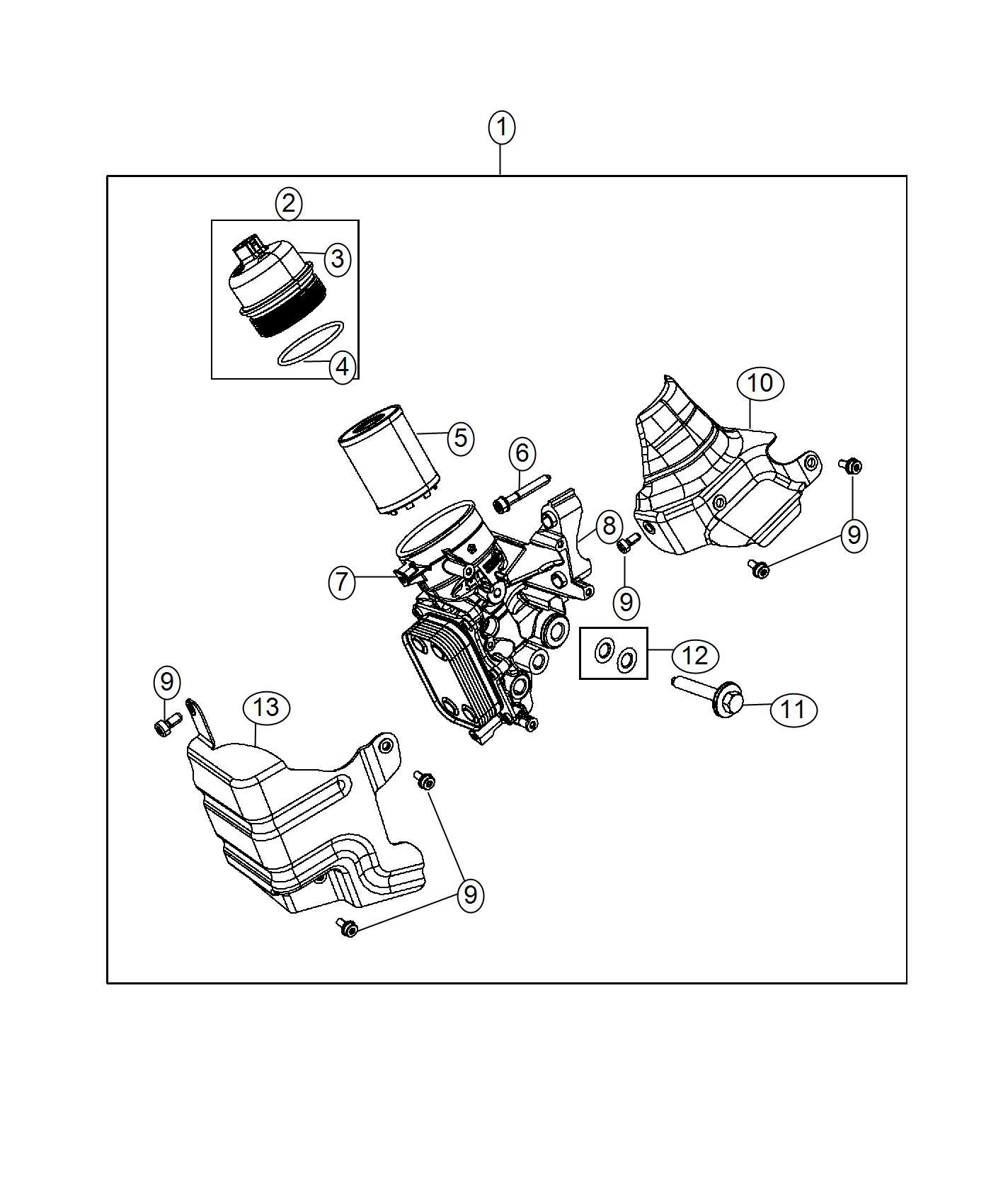 Jeep Renegade O Ring Oil Filter Cap Engine Cooler
